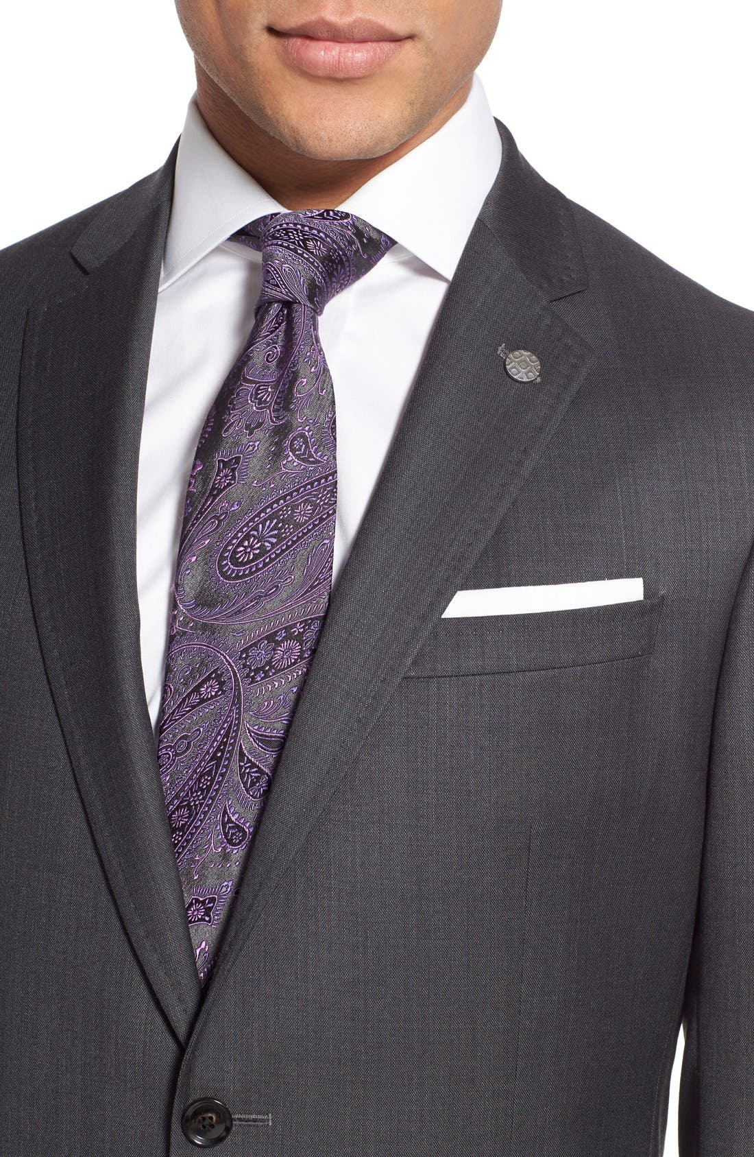 Alternate Image 5  - Ted Baker London 'Jay' Trim Fit Solid Wool Suit