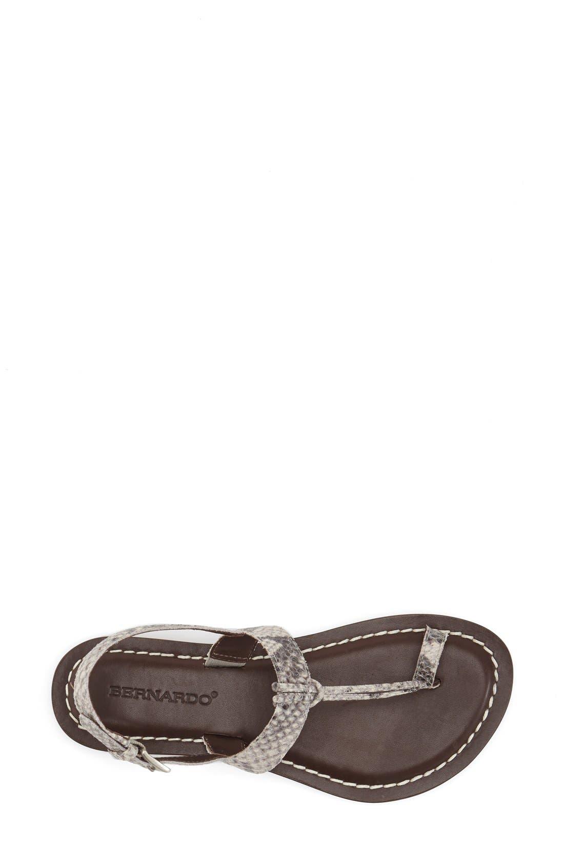 Bernardo Maverick Leather Sandal,                             Alternate thumbnail 3, color,                             Taupe Snake Print