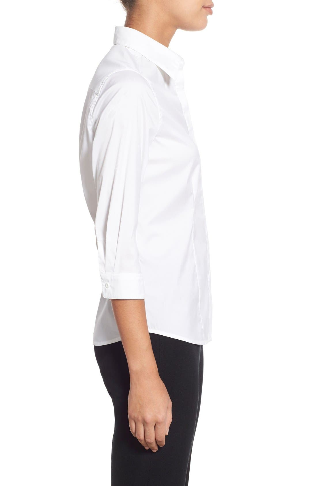 Alternate Image 3  - Ming Wang Stretch Poplin Shirt