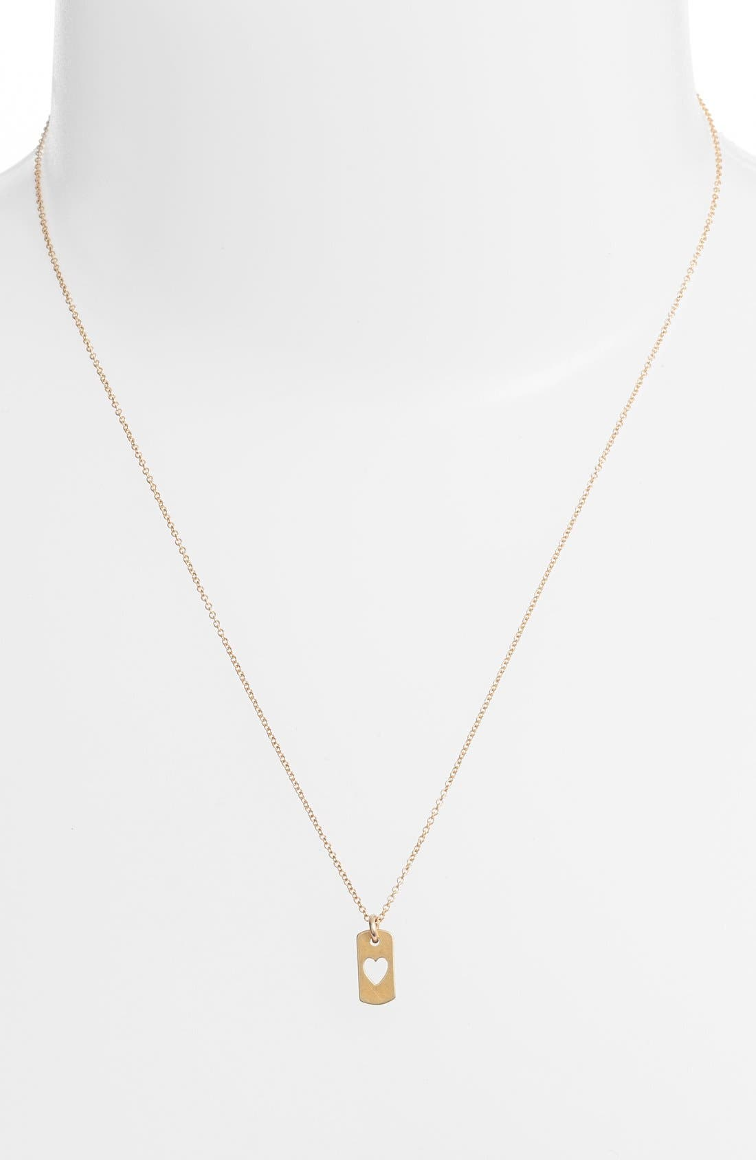 Alternate Image 3  - Dogeared Heart Dog Tag Pendant Necklace (Nordstrom Exclusive)