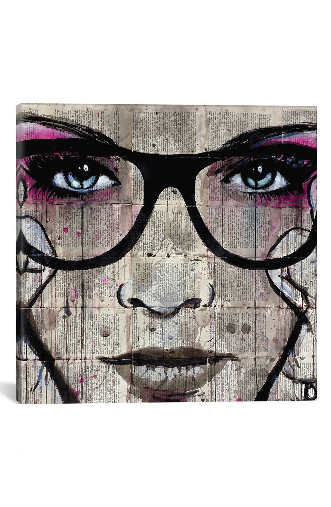 'Specs' Giclée Print Canvas Art,                         Main,                         color, Grey