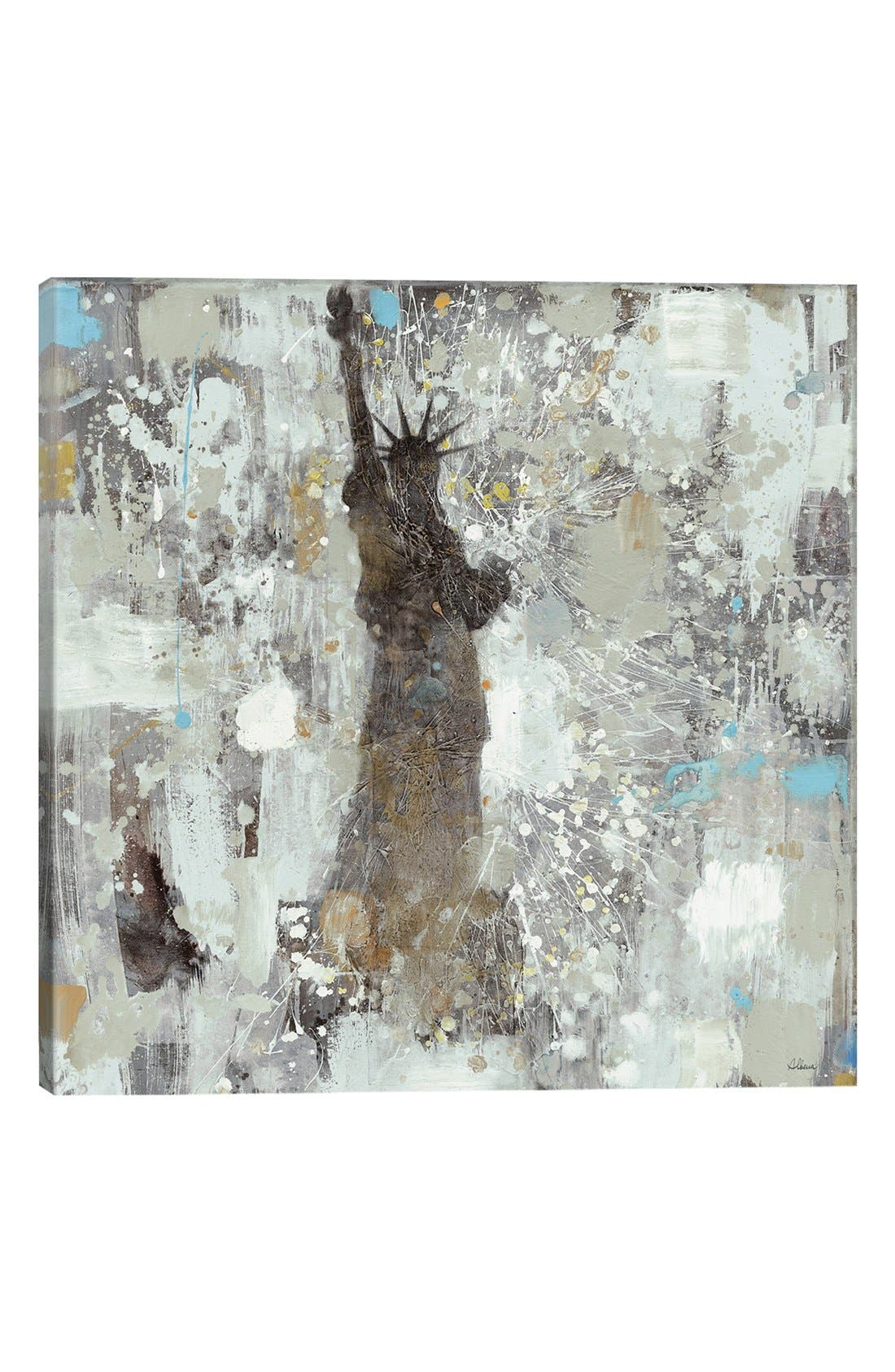 'Statue of Liberty' Giclée Print Canvas Art,                             Main thumbnail 1, color,                             Grey