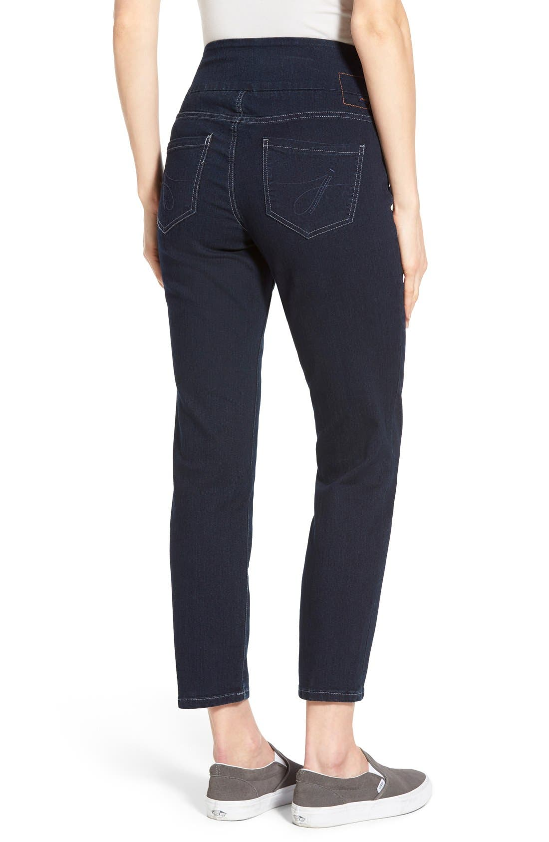 Alternate Image 2  - Jag Jeans 'Amelia' Pull-On Slim Ankle Jeans (Indigo) (Petite)