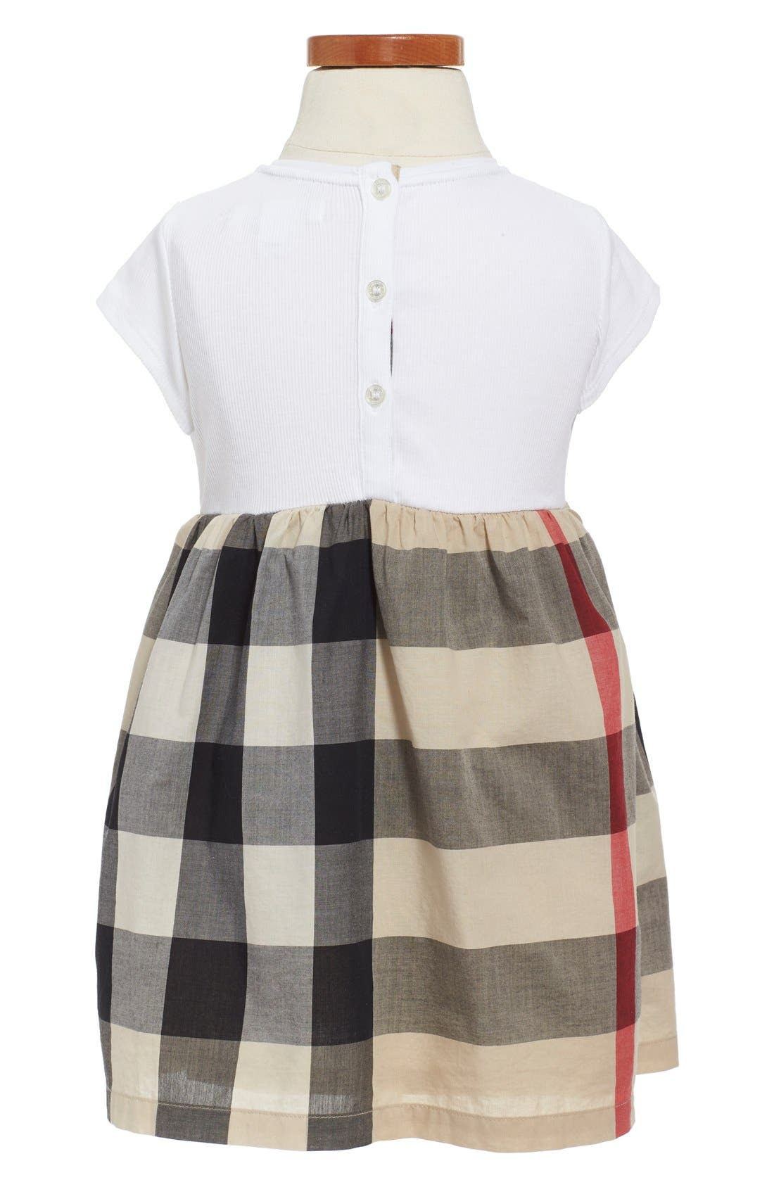Alternate Image 2  - Burberry 'Mini Rosey' Check Cotton Dress (Toddler Girls)