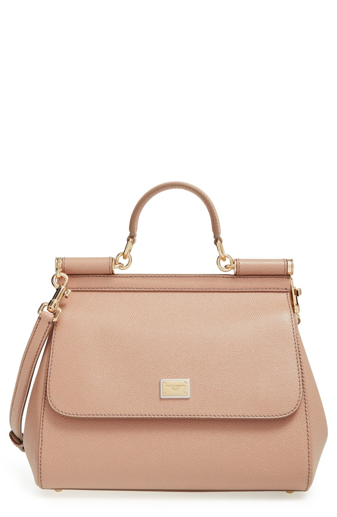 Main Image - Dolce&Gabbana 'Small Miss Sicily' Leather Satchel