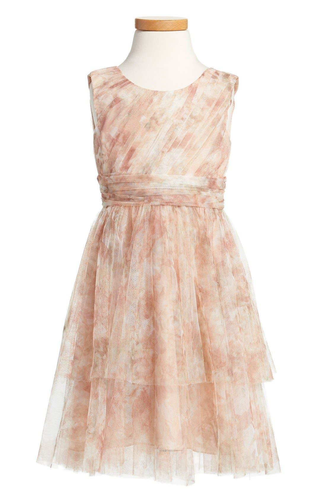 Etsy - Vintage Floral Tulle Dress,                             Main thumbnail 1, color,                             Blush Multi