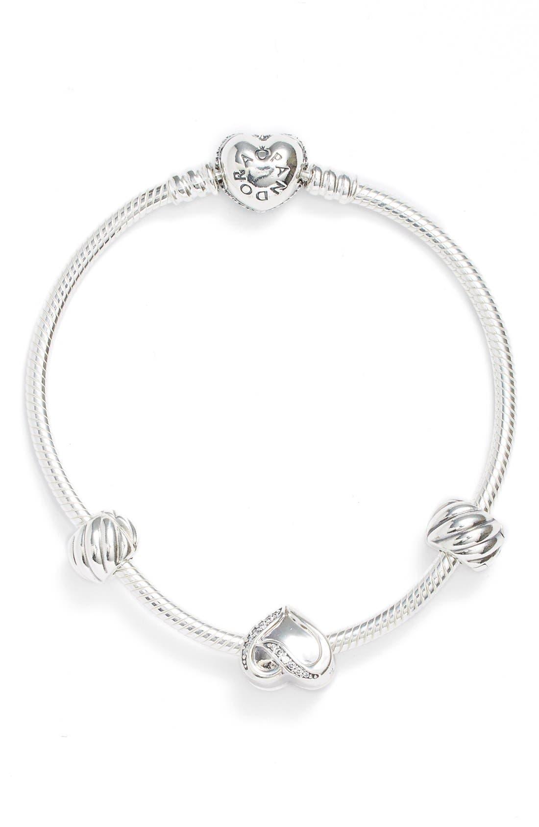 Alternate Image 1 Selected - PANDORA 'Filled with Love' Bracelet Gift Set