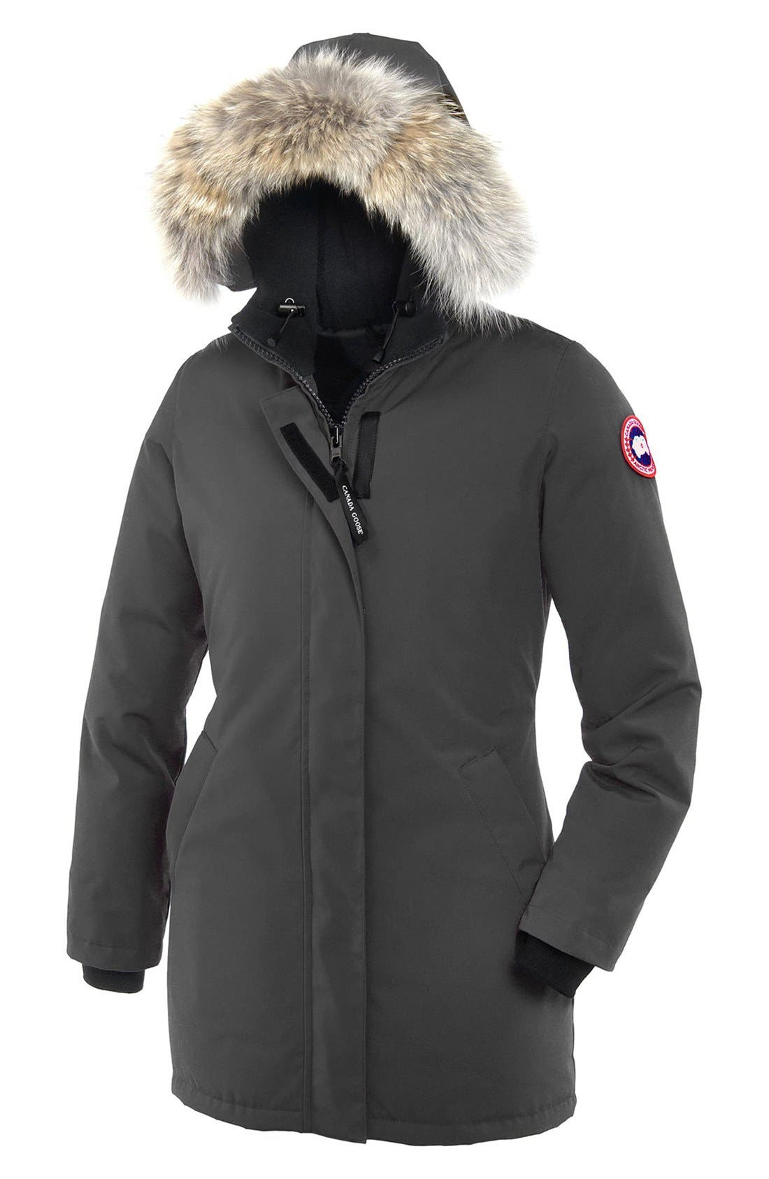 Main Image - Canada Goose Victoria Down Parka with Genuine Coyote Fur Trim