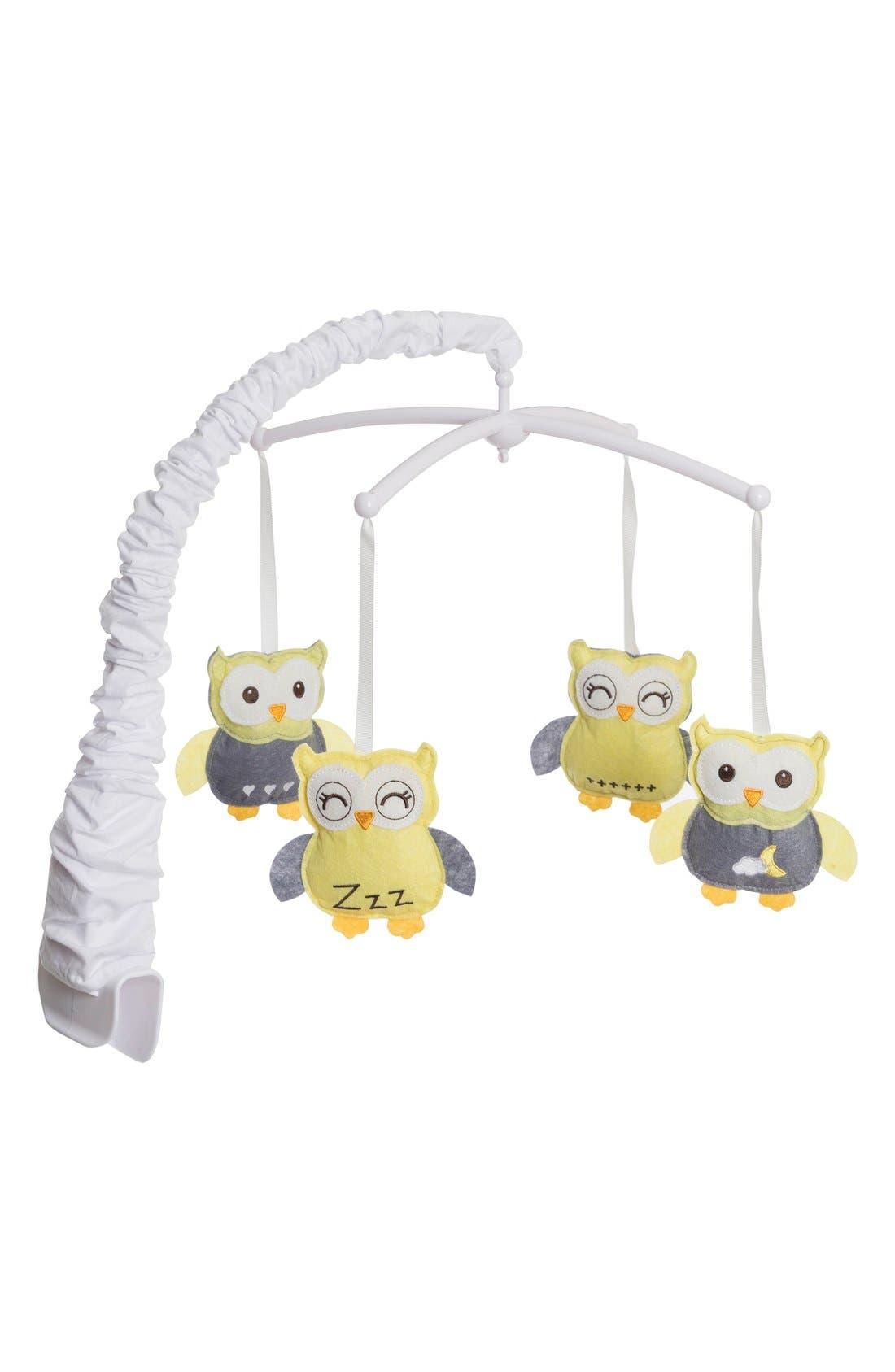'Sleepy Owl' Mobile,                         Main,                         color, Yellow