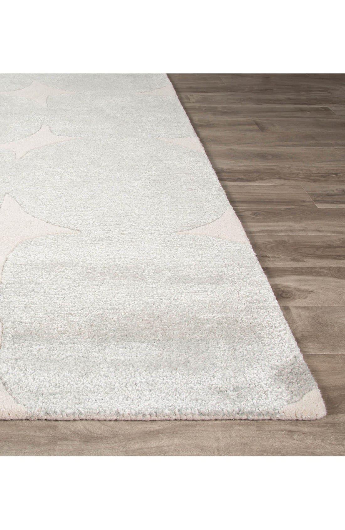 'gramercy' dot wool & silk rug,                             Alternate thumbnail 2, color,                             Grey