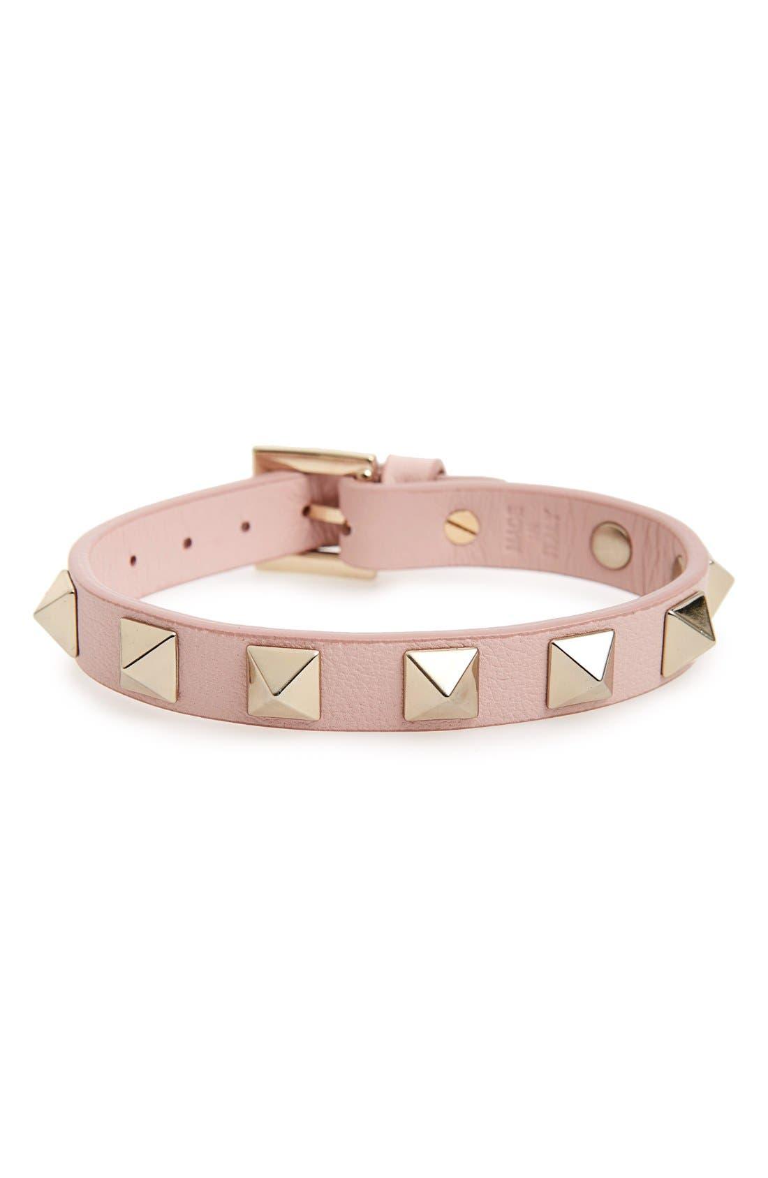 Alternate Image 1 Selected - Valentino 'Rockstud' Leather Bracelet