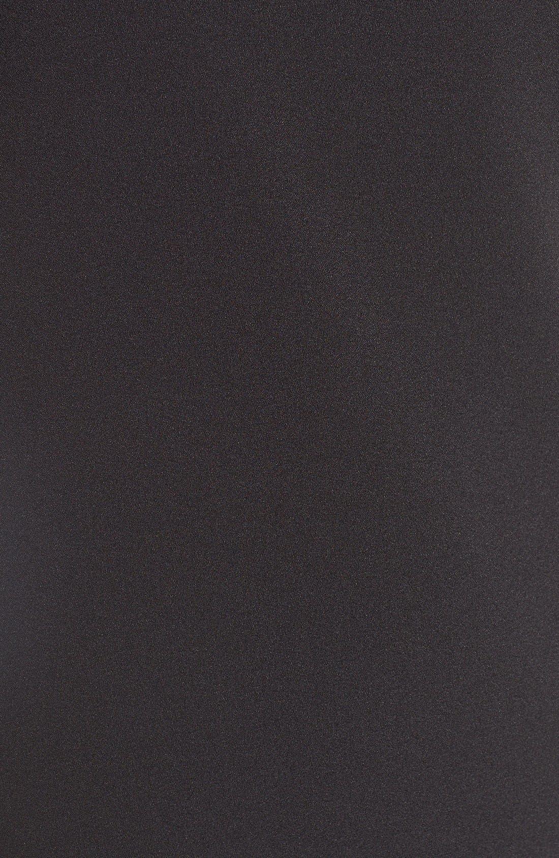 'Peek-A-Boo' Cold Shoulder Shift Dress,                             Alternate thumbnail 5, color,                             Black