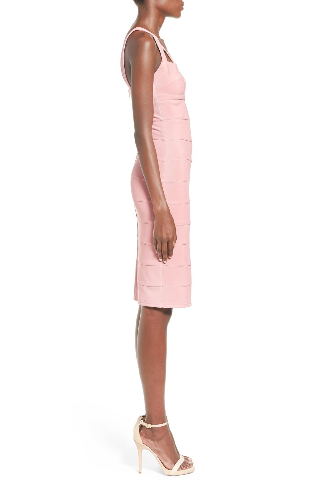 Alternate Image 3  - Missguided Geo Cutout Bandage Dress