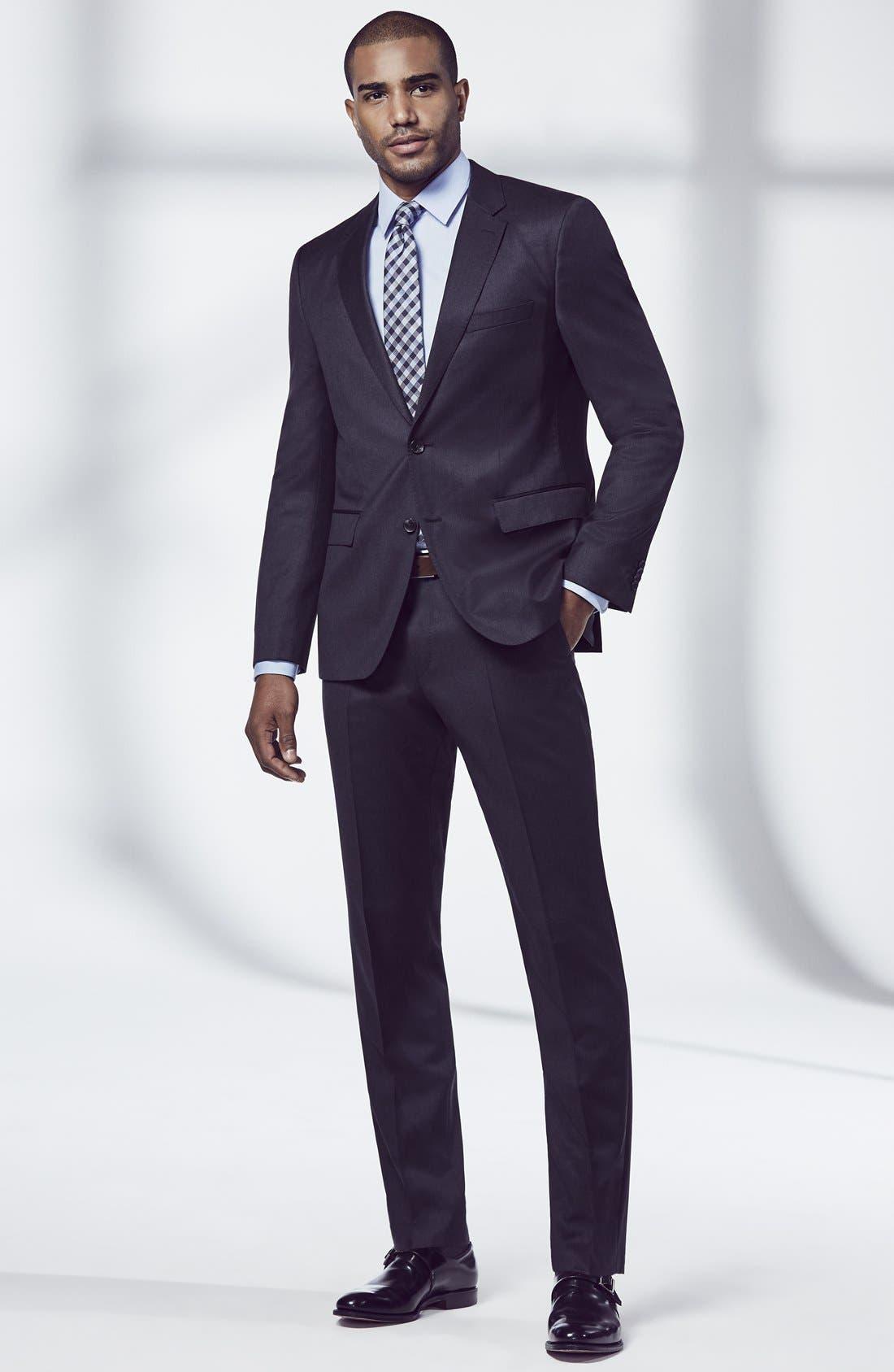 Johnstons/Lenon Classic Fit Wool Suit,                             Alternate thumbnail 8, color,