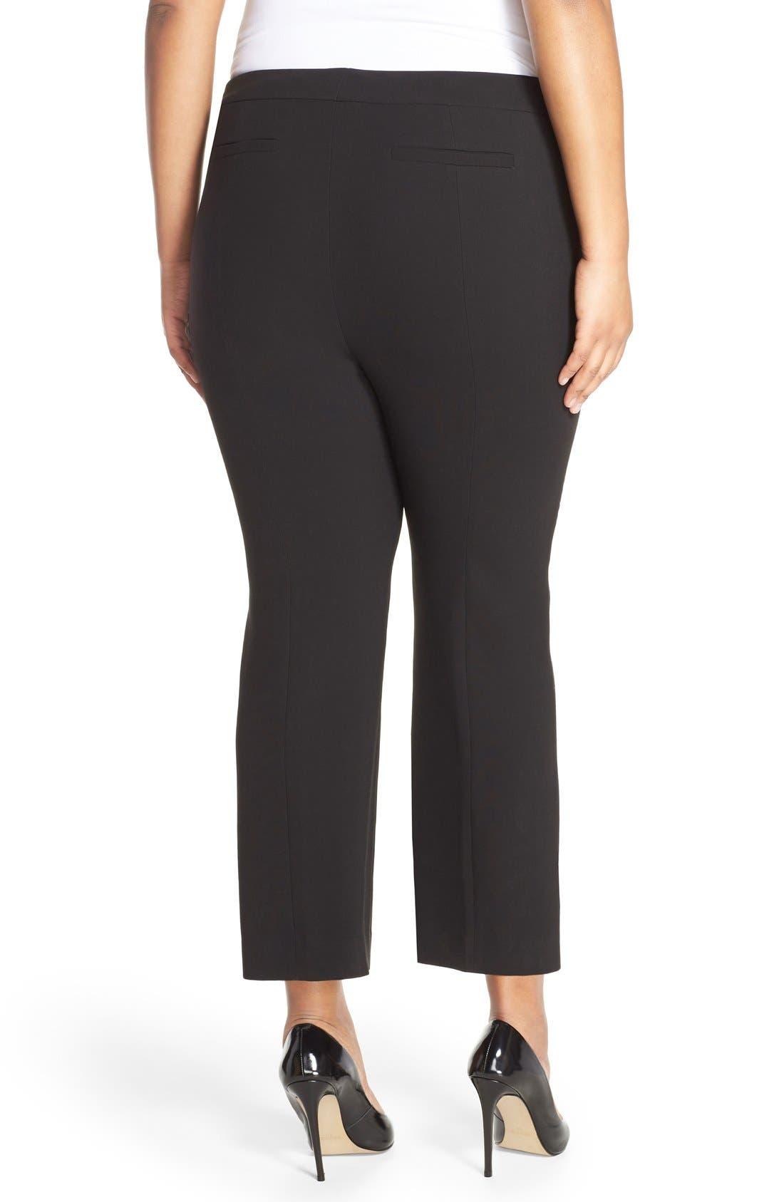 Alternate Image 3  - Classiques Entier® Flare Leg Crop Pants (Plus Size)