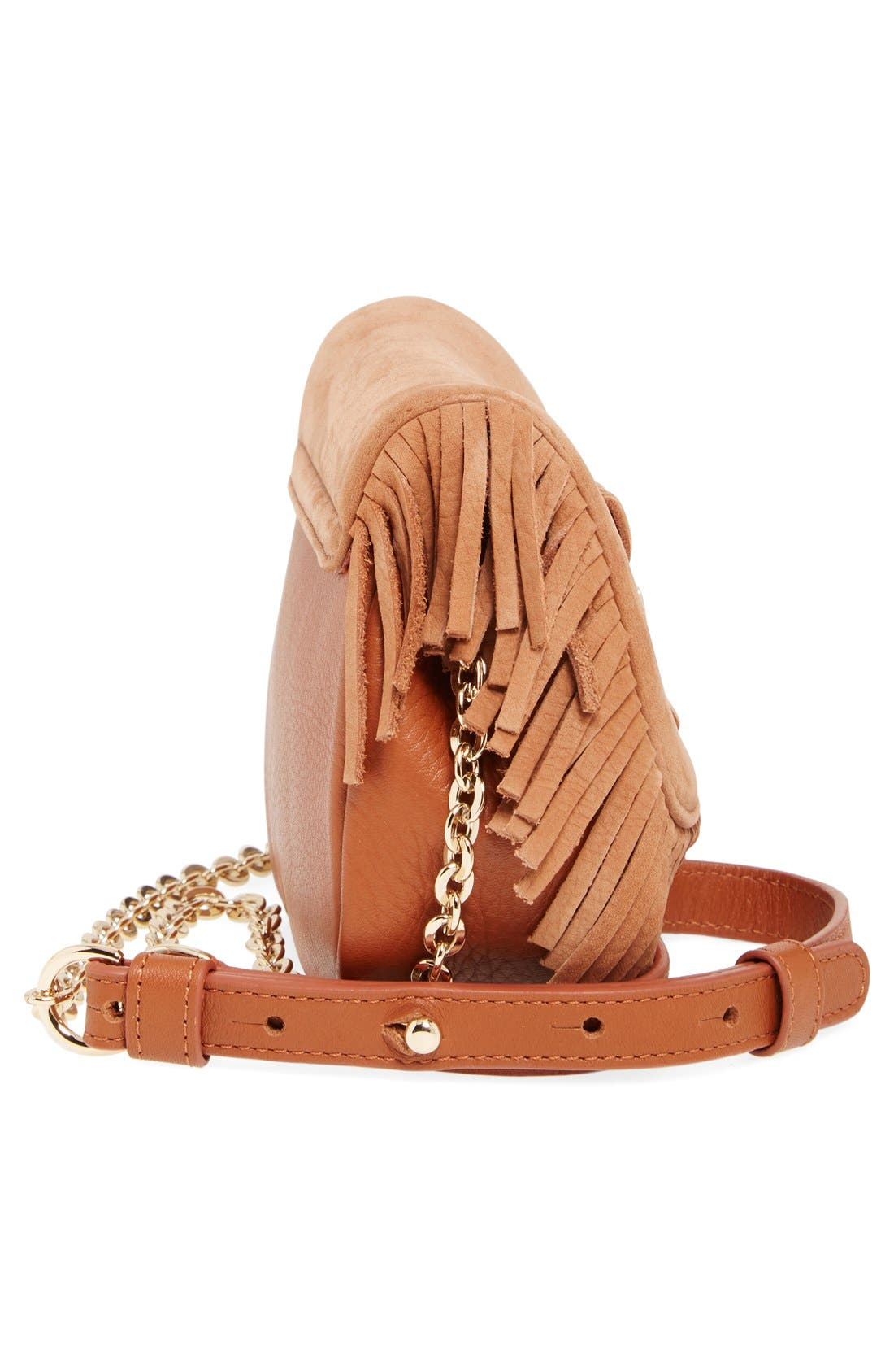 Alternate Image 5  - See by Chloé 'Medium Paige' Fringe Leather & Suede Clutch