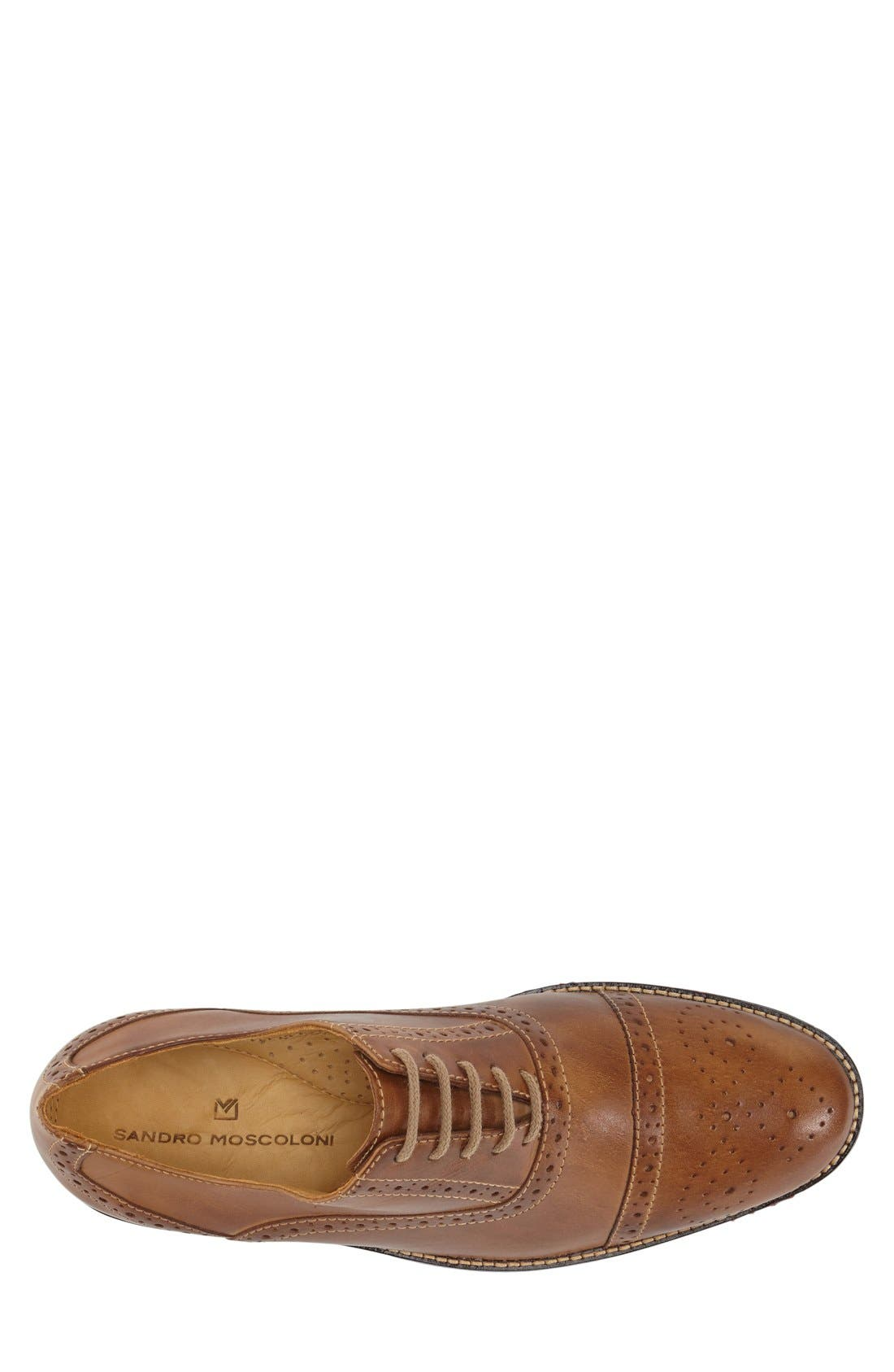 'Barrett' Cap Toe Oxford,                             Alternate thumbnail 3, color,                             Tan
