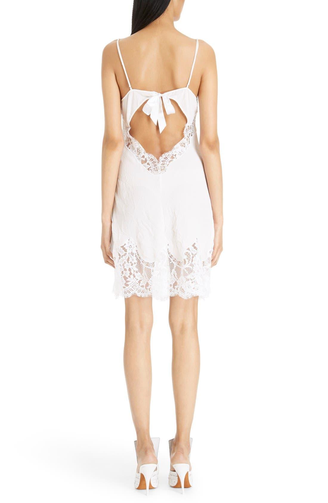 Alternate Image 2  - Givenchy Lace Trim Silk Crepe Dress