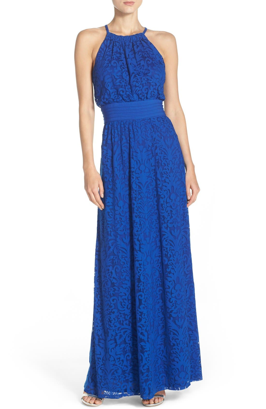 Alternate Image 1 Selected - Maggy London Lace Halter Maxi Dress