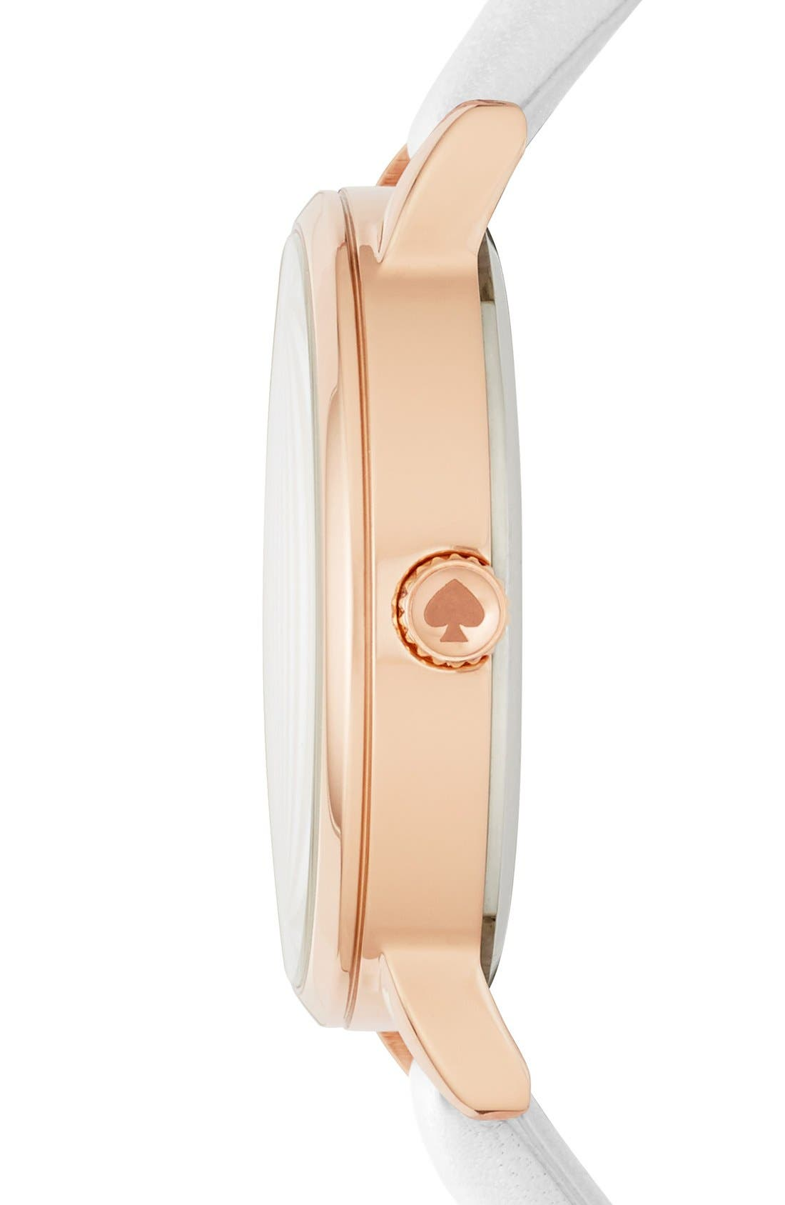 Alternate Image 2  - kate spade new york 'metro - sunshine' leather strap watch, 34mm