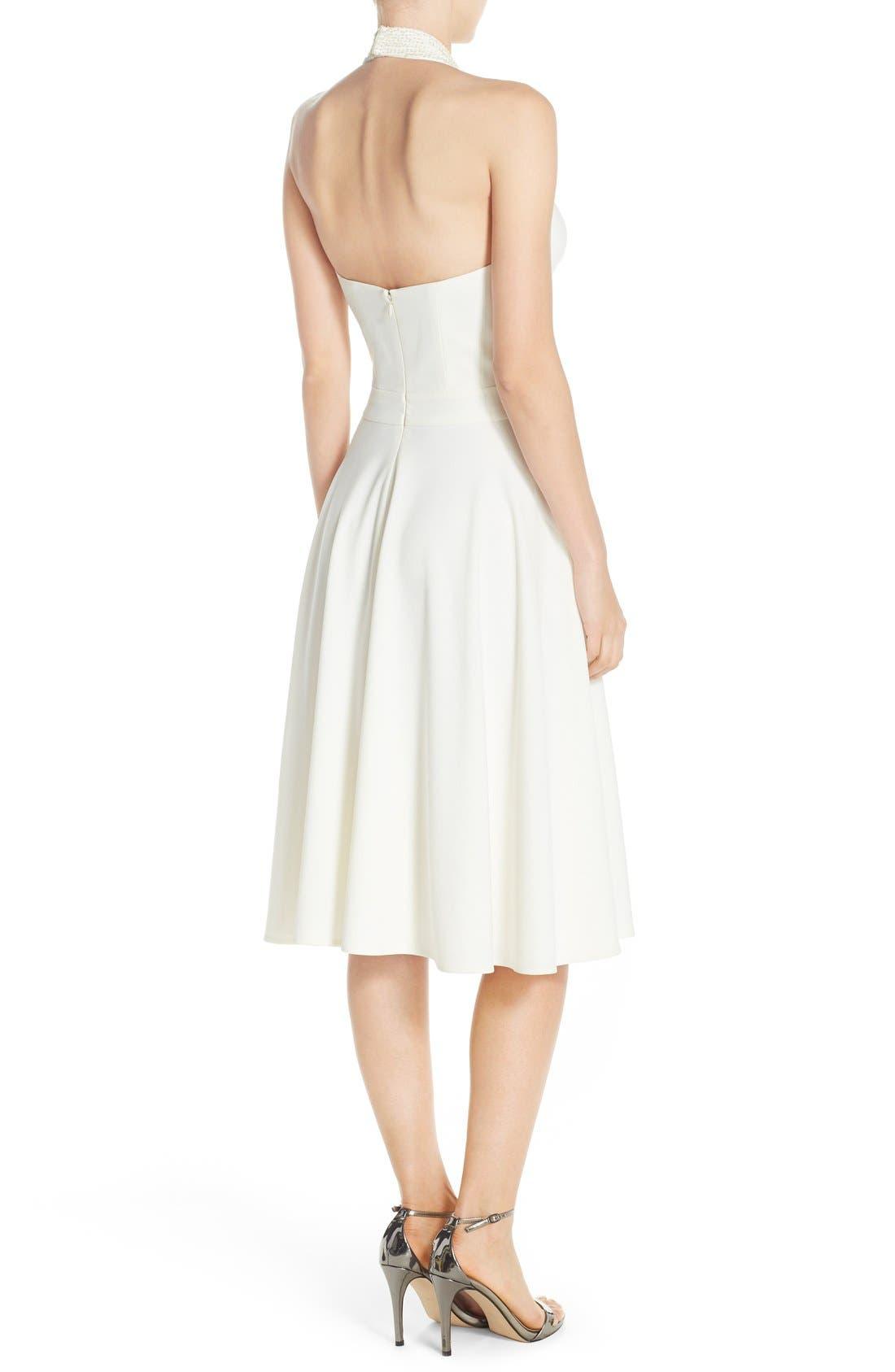 Alternate Image 2  - Halston Heritage Embellished Halter Dress