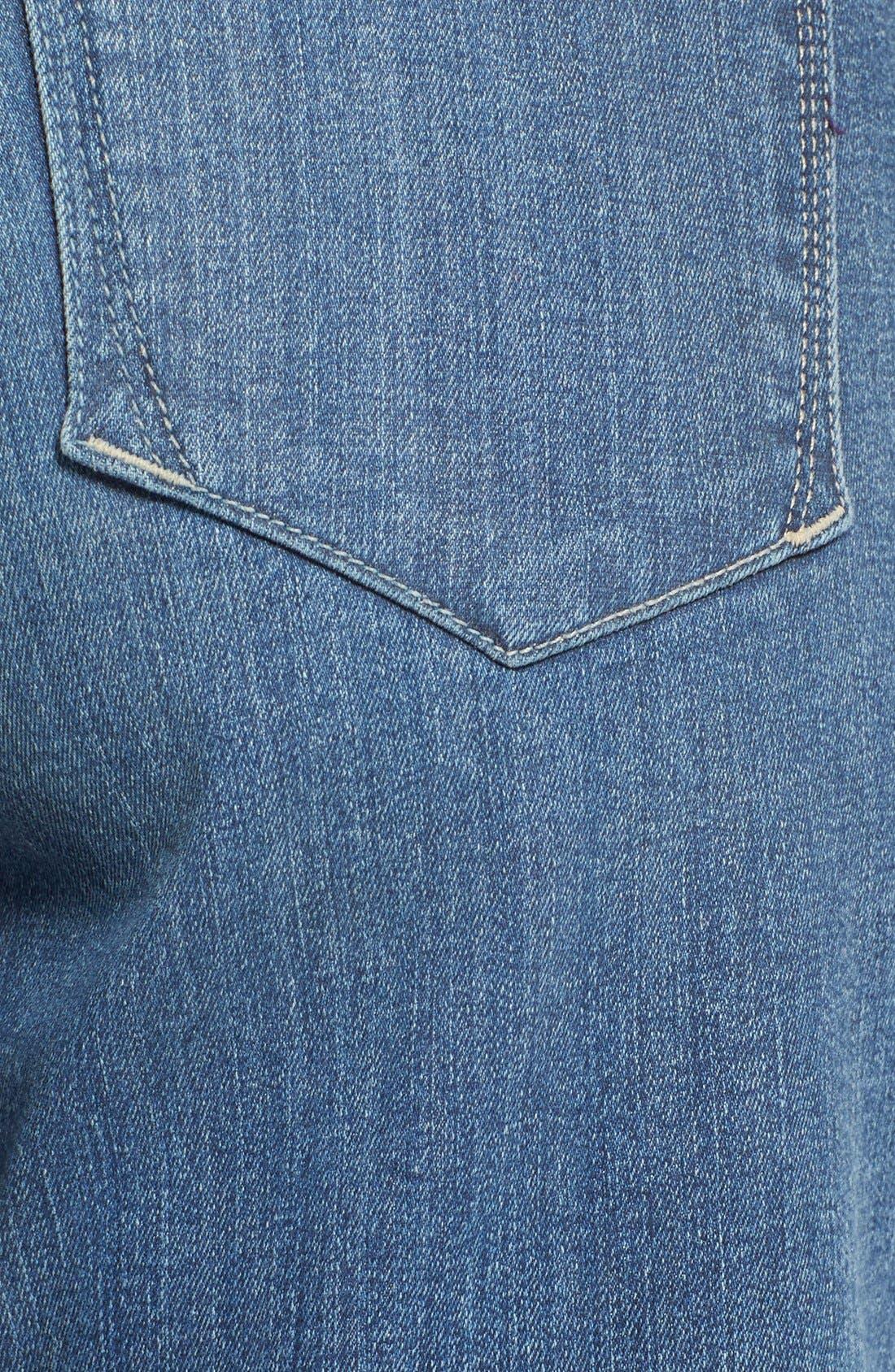 Briella Roll Cuff Stretch Denim Shorts,                             Alternate thumbnail 5, color,                             Heyburn