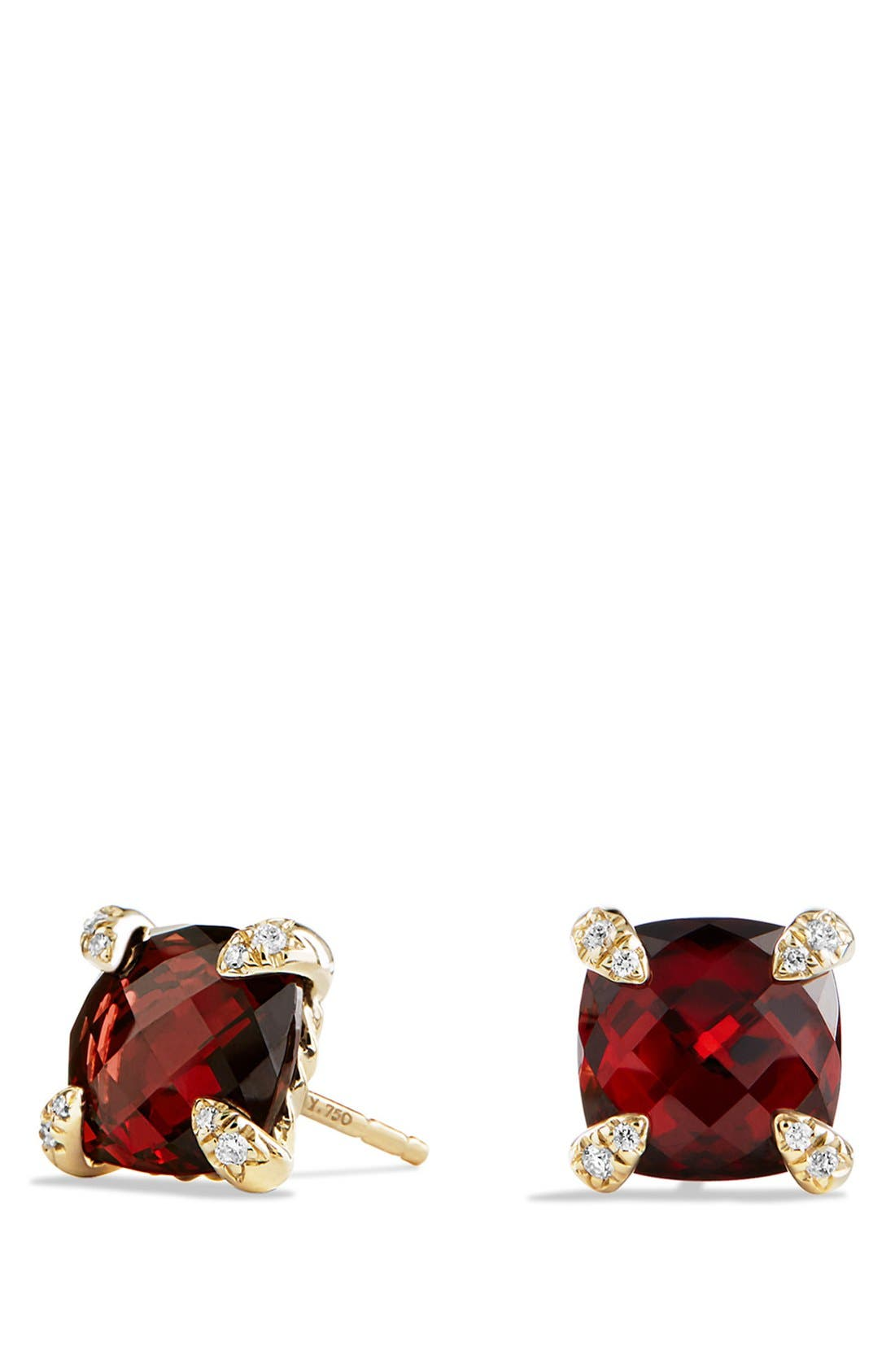 David Yurman 'Châtelaine' Earrings with Semiprecious Stones in 18K Gold