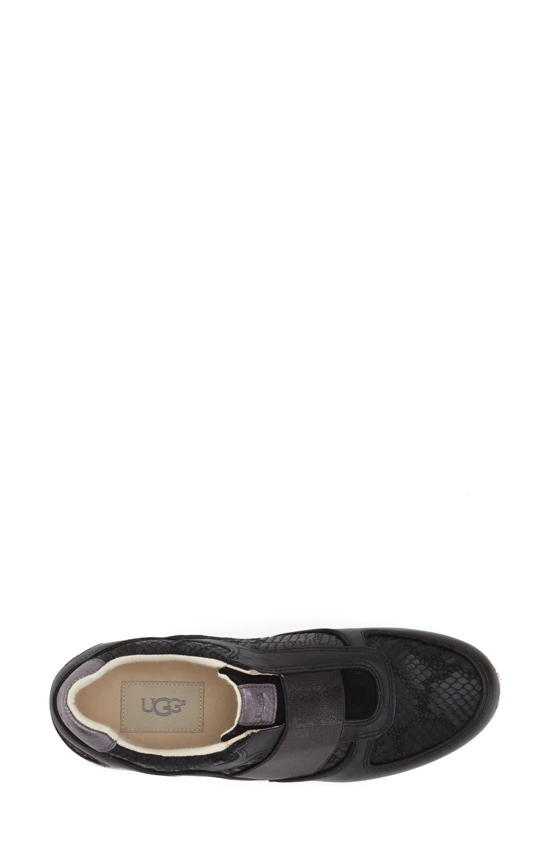 'Annetta' Slip-On Sneaker,                             Alternate thumbnail 2, color,                             Black Leather