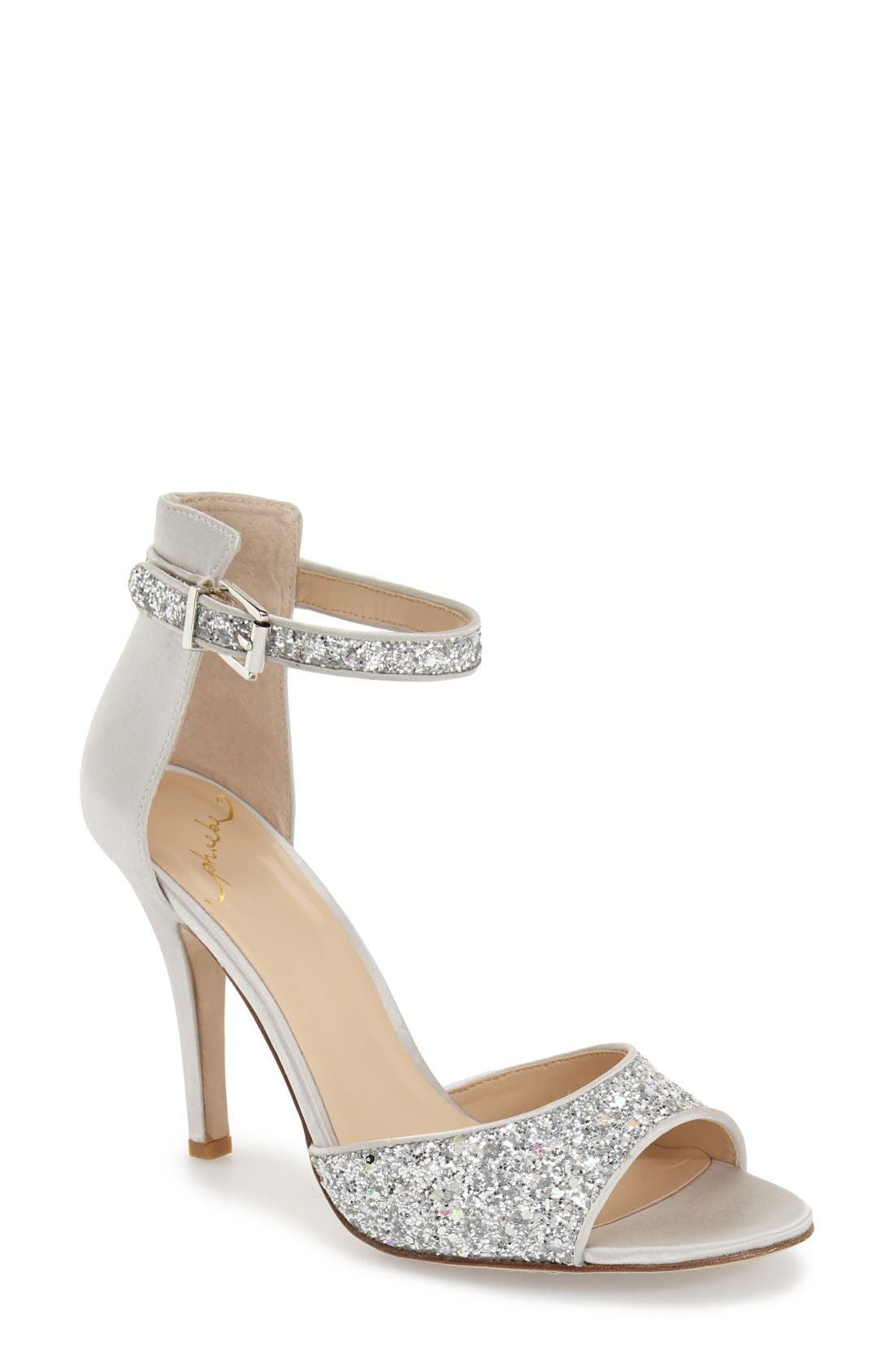 Main Image - Kay Unger 'Phoebe Collection - Helena Glitter' Sandal (Women)