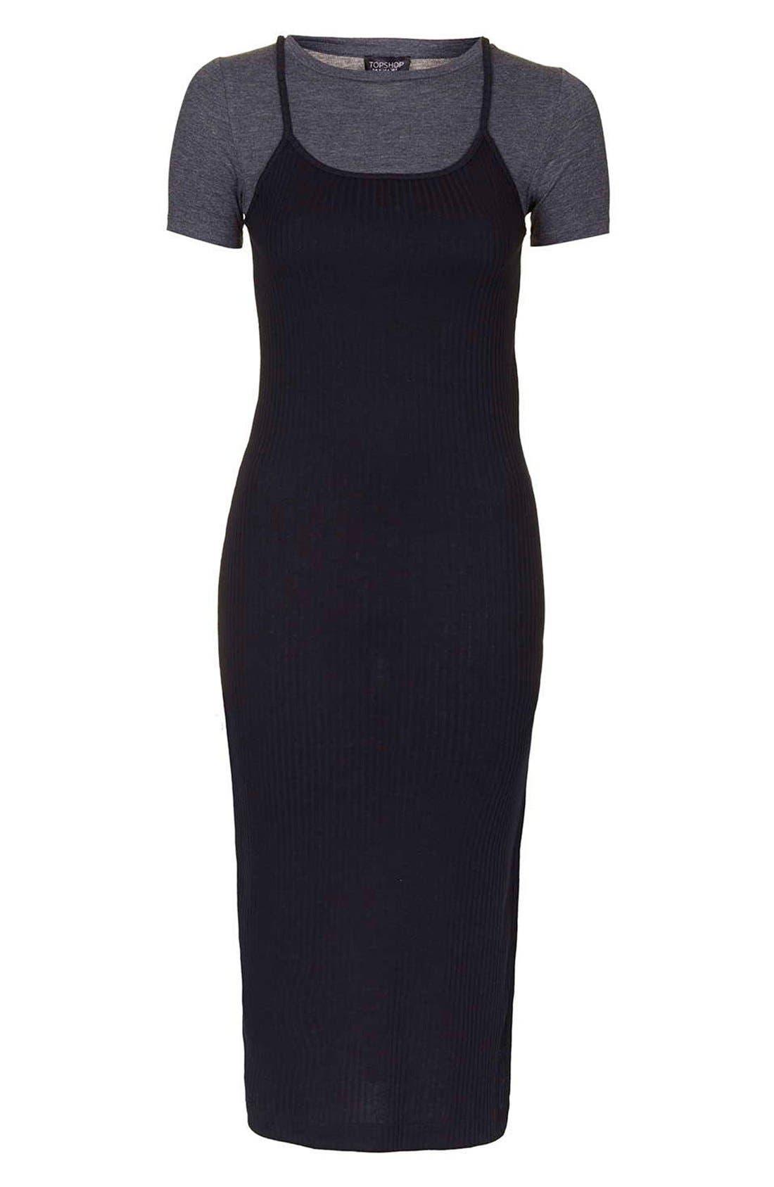 Alternate Image 4  - Topshop Layered Midi Dress