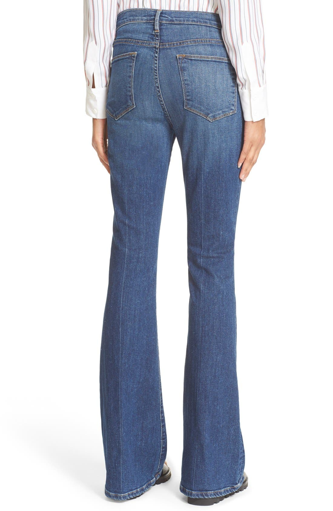 Alternate Image 2  - FRAME 'Le High Flare' Jeans (Neosho)