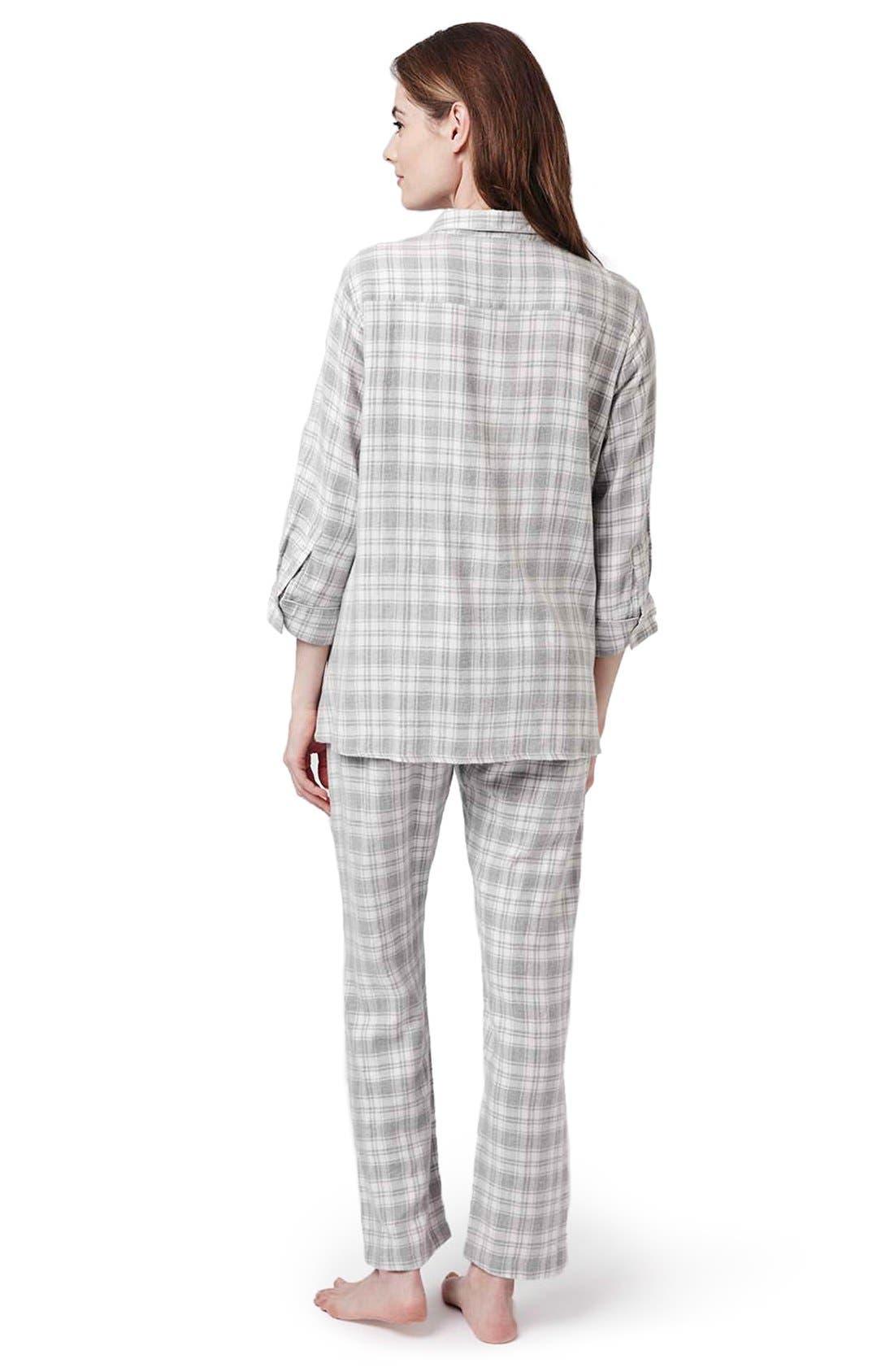 Alternate Image 2  - Topshop Plaid Maternity Pajamas
