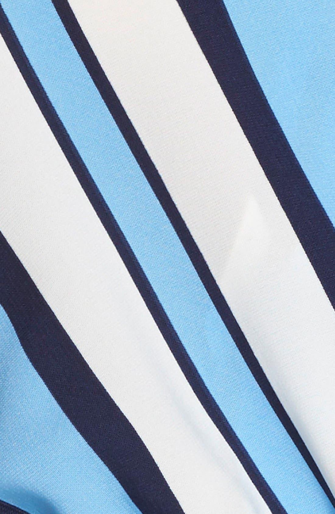 Alternate Image 5  - Fraiche by J Stripe Short Sleeve Romper