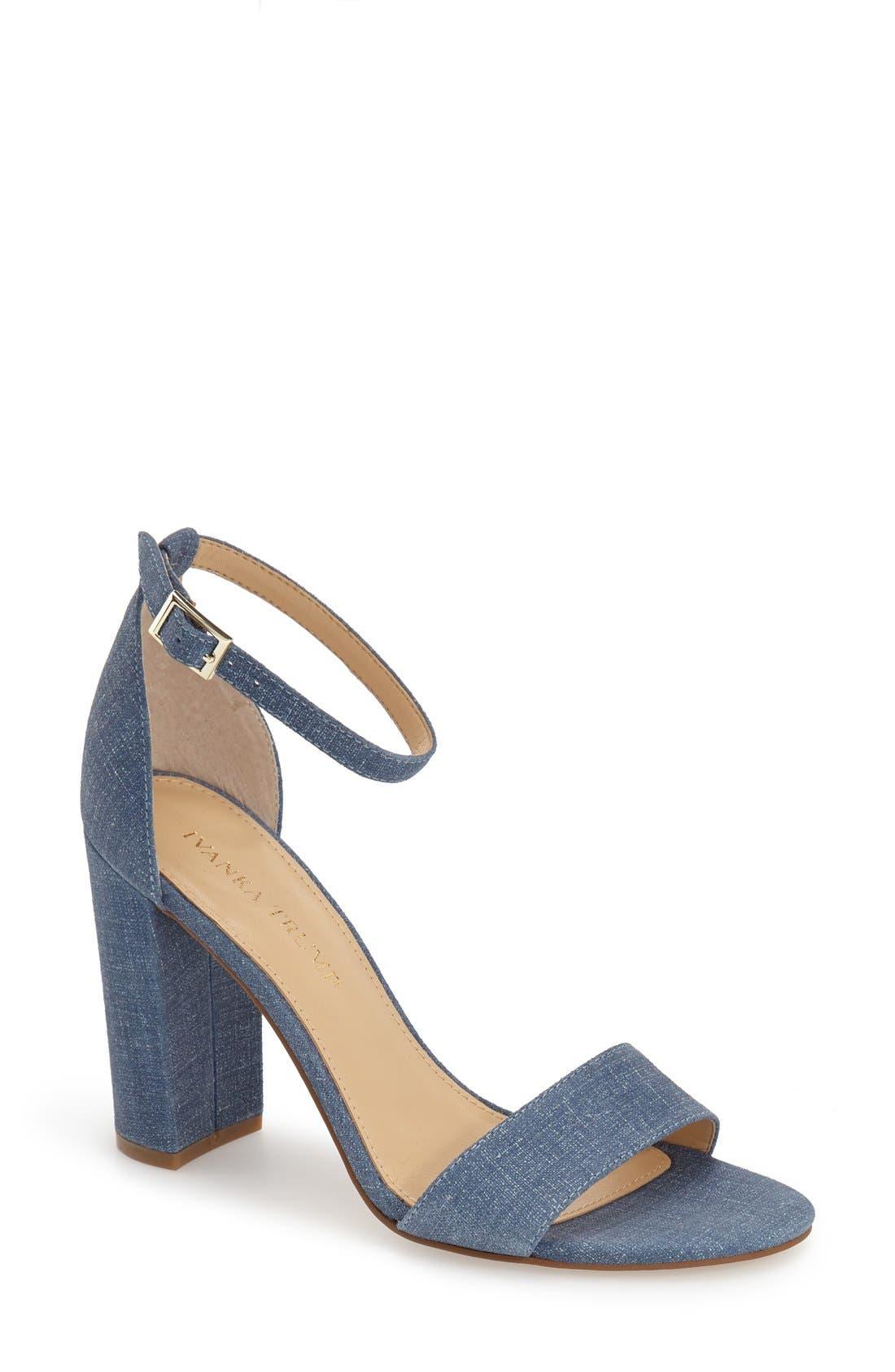Main Image - Ivanka Trump 'Klover' Block Heel Ankle Strap Sandal ...