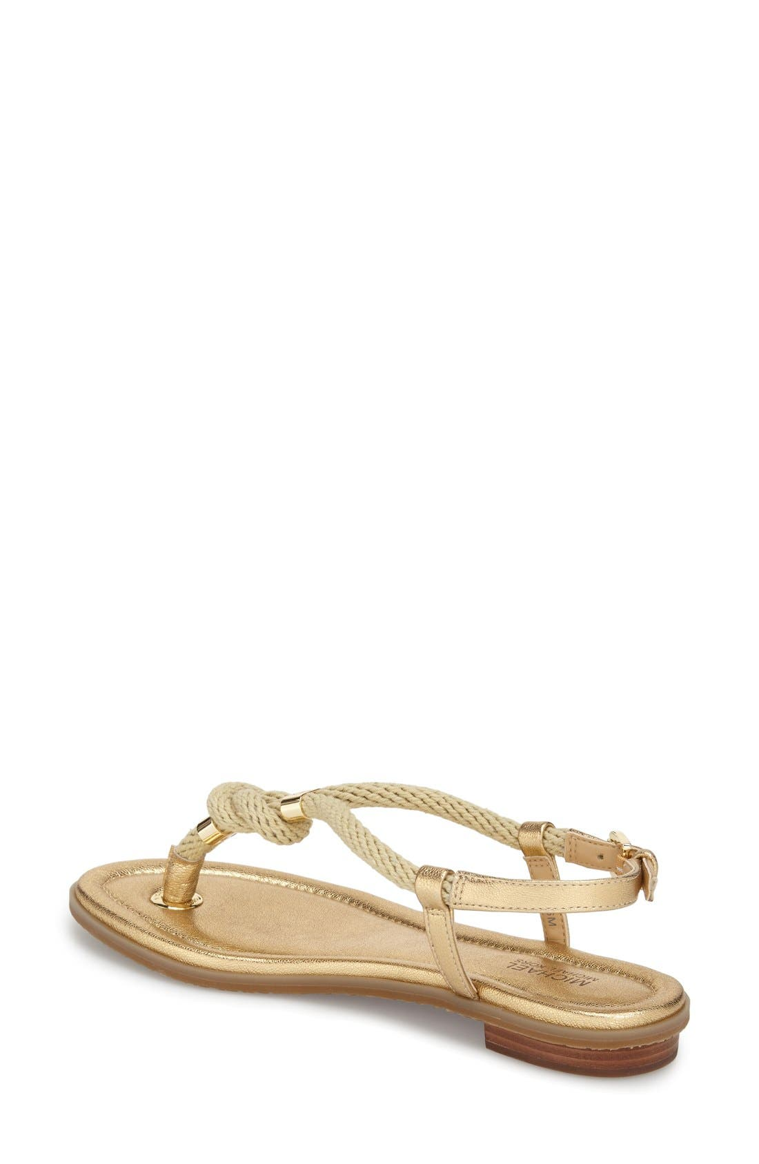 'Holly' Sandal,                             Alternate thumbnail 2, color,                             Pale Gold