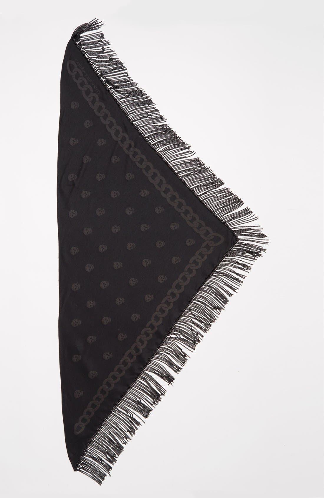 Alternate Image 2  - Alexander McQueen Chain Fringe Wool & Silk Scarf