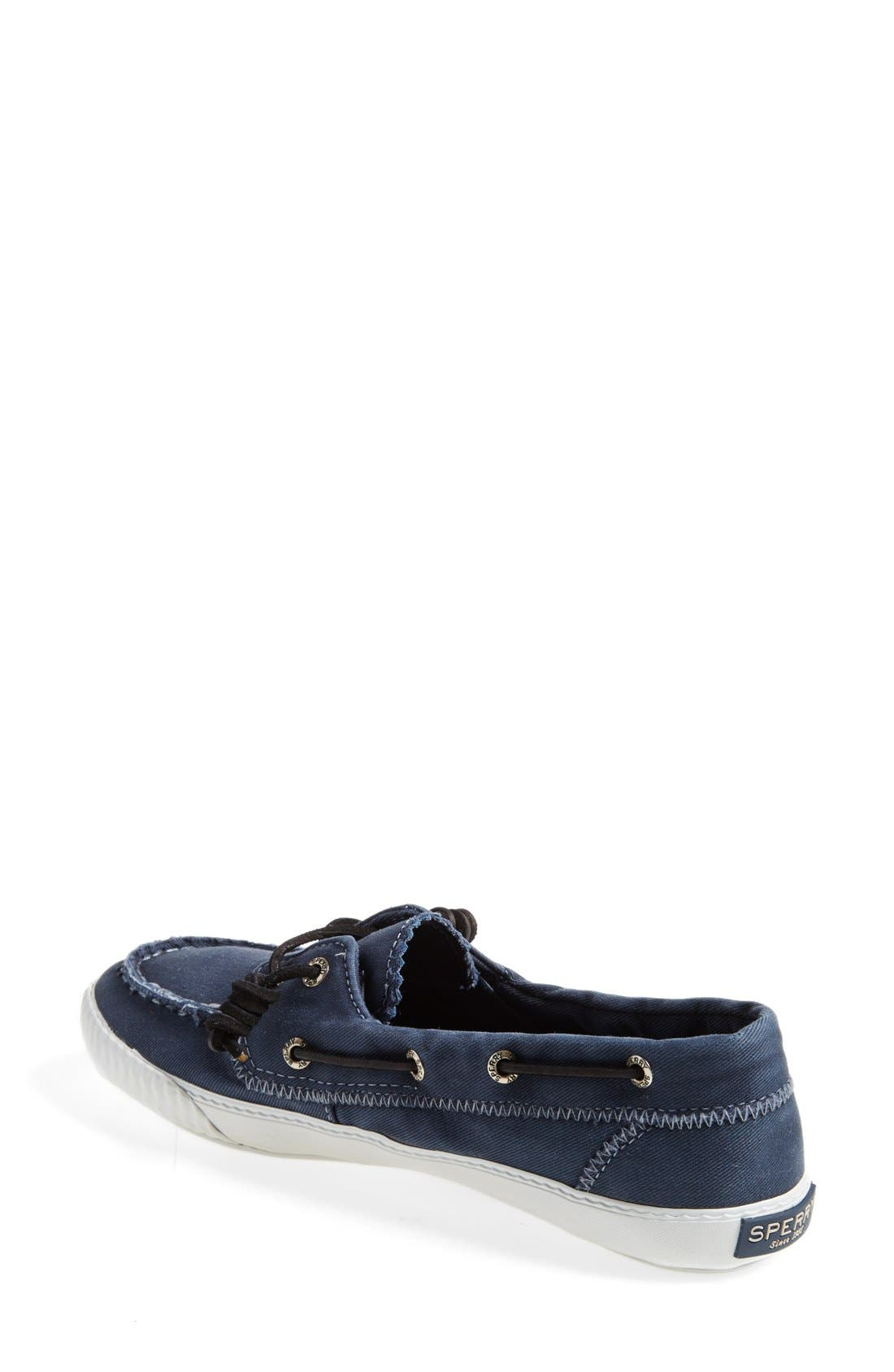 Paul Sperry 'Sayel Away' Sneaker,                             Alternate thumbnail 2, color,                             Navy