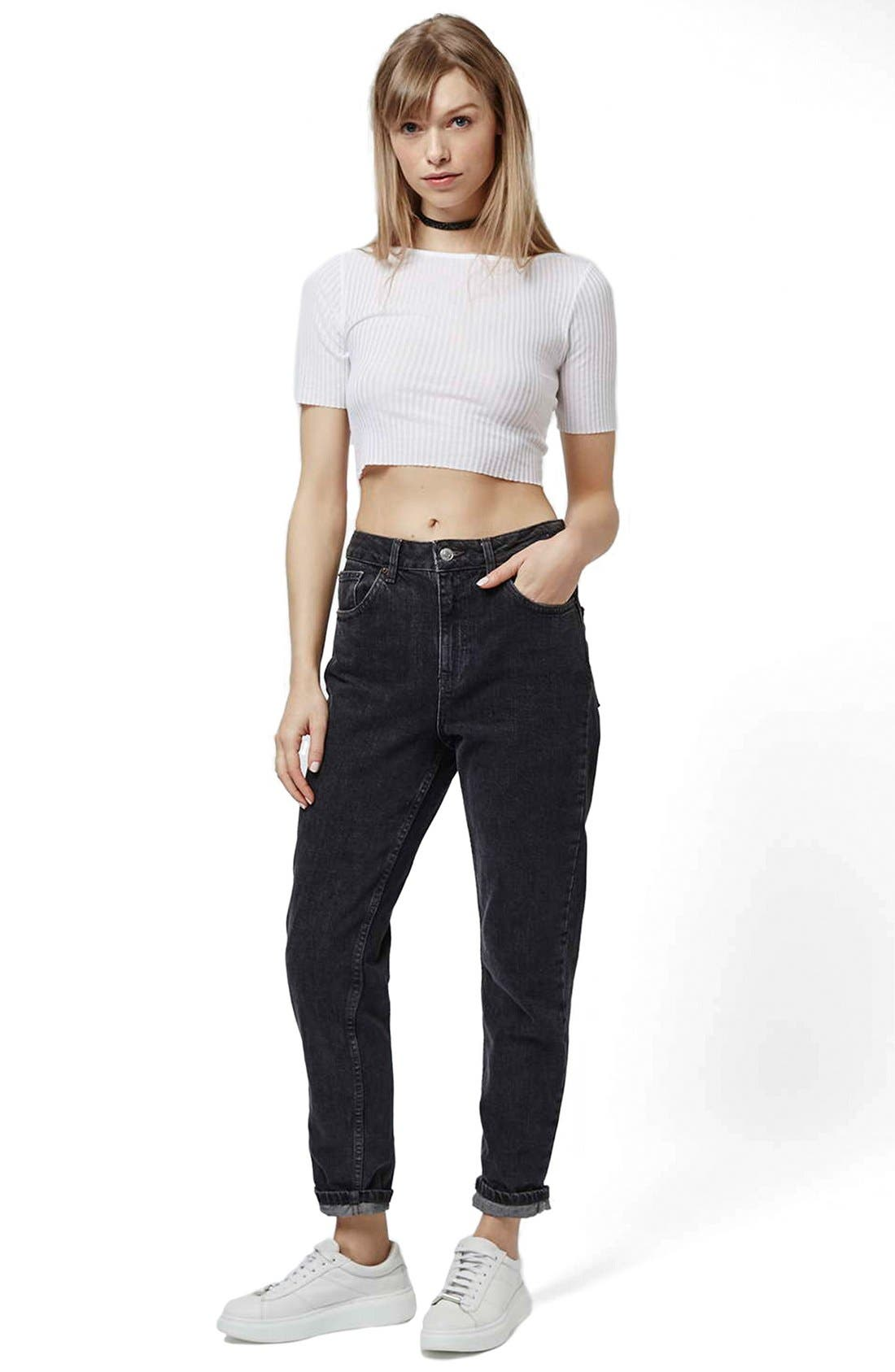 Alternate Image 2  - Topshop Raw Edge Crop Tee