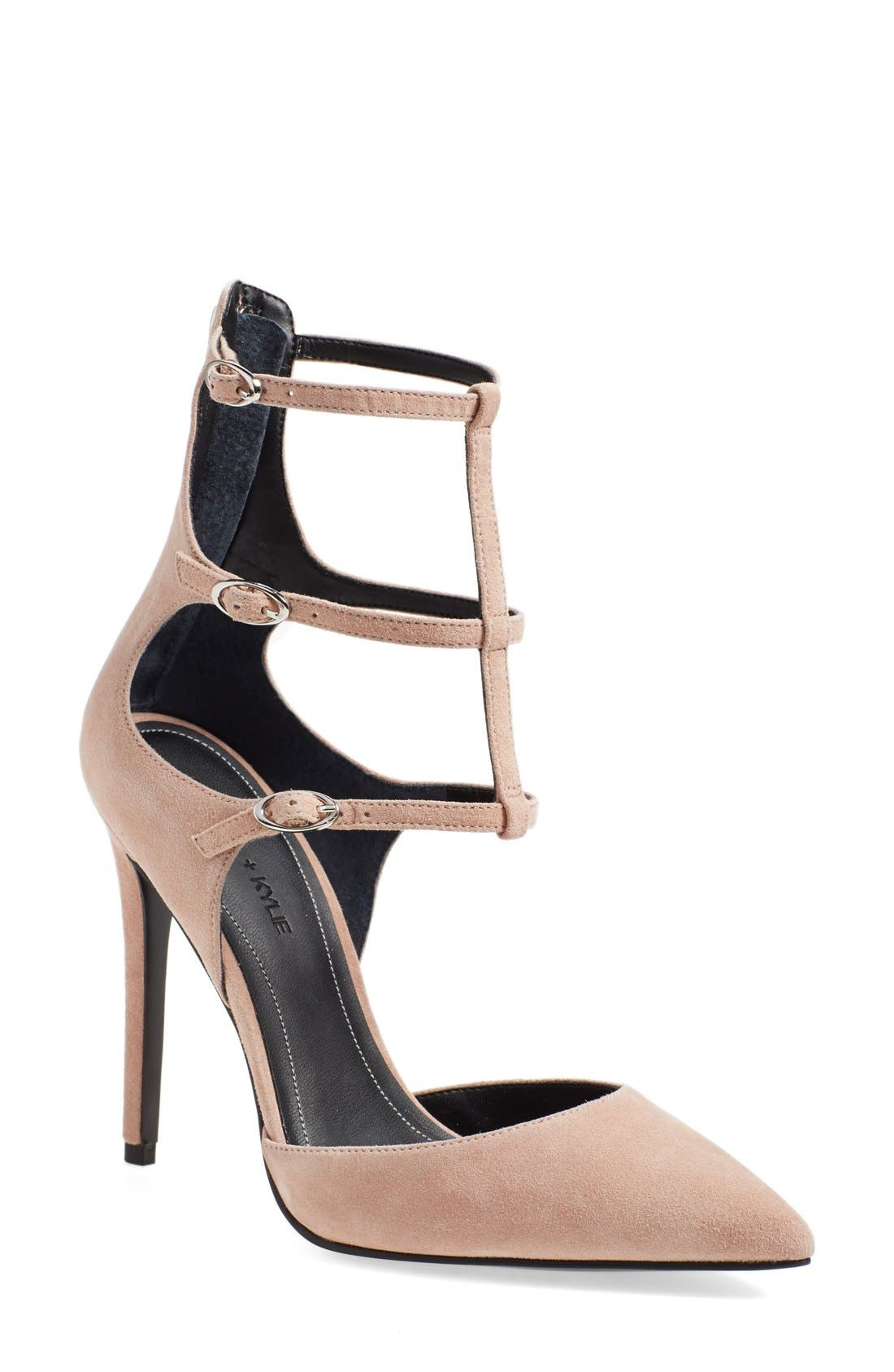 Alternate Image 1 Selected - KENDALL + KYLIE 'Alisha' Tiered Ankle Strap Pump (Women)