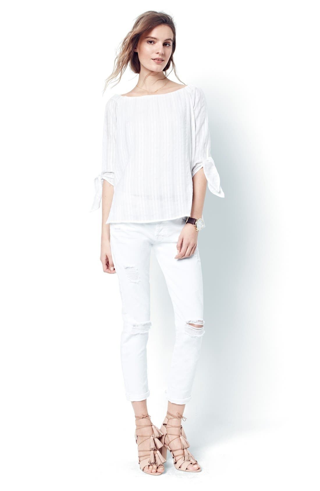 Alternate Image 6  - Bailey 44 'Yarrow' Woven Stripe Off the Shoulder Top