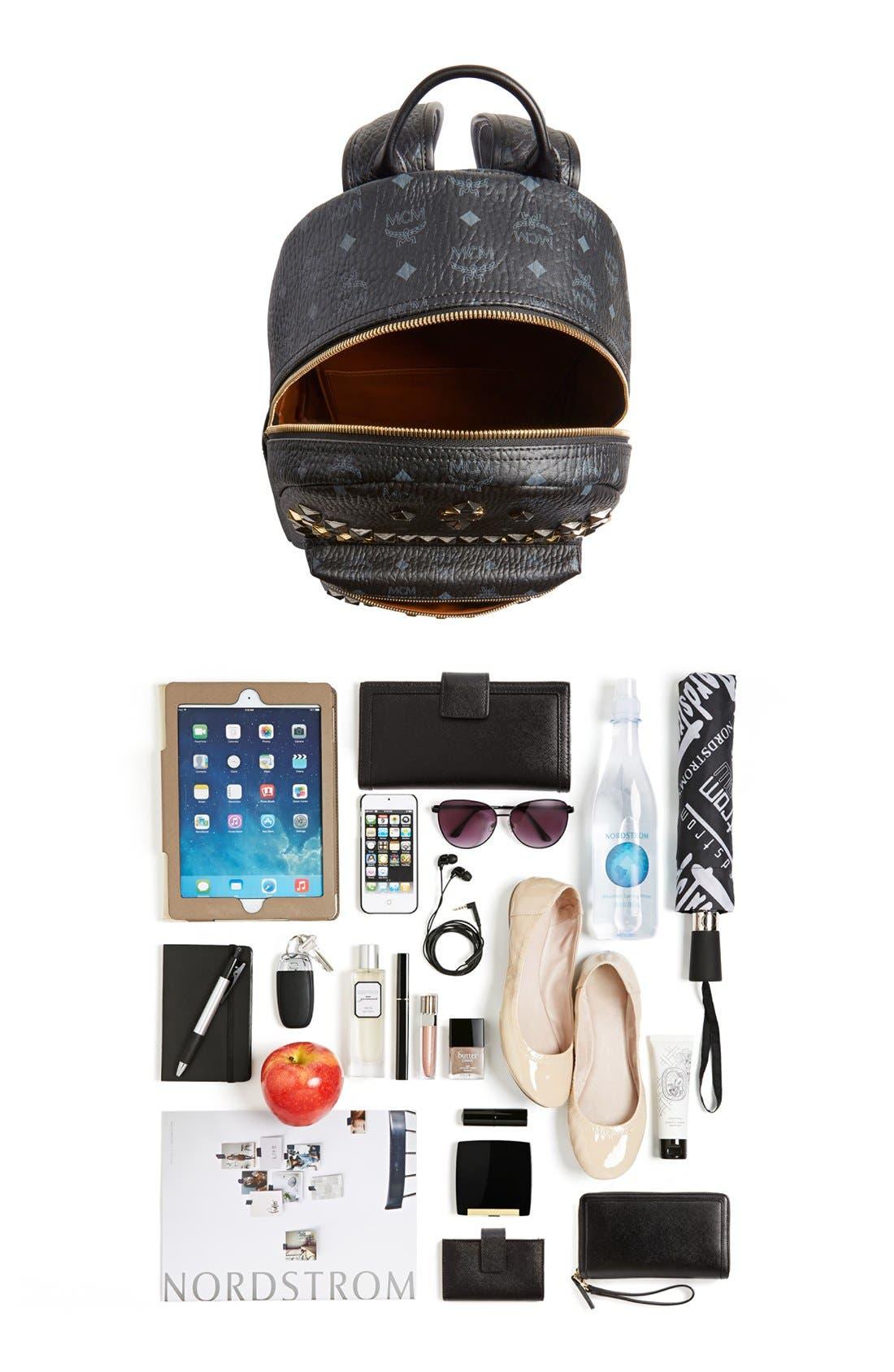 Alternate Image 7  - MCM 'Medium Stark - Visetos' Studded Backpack