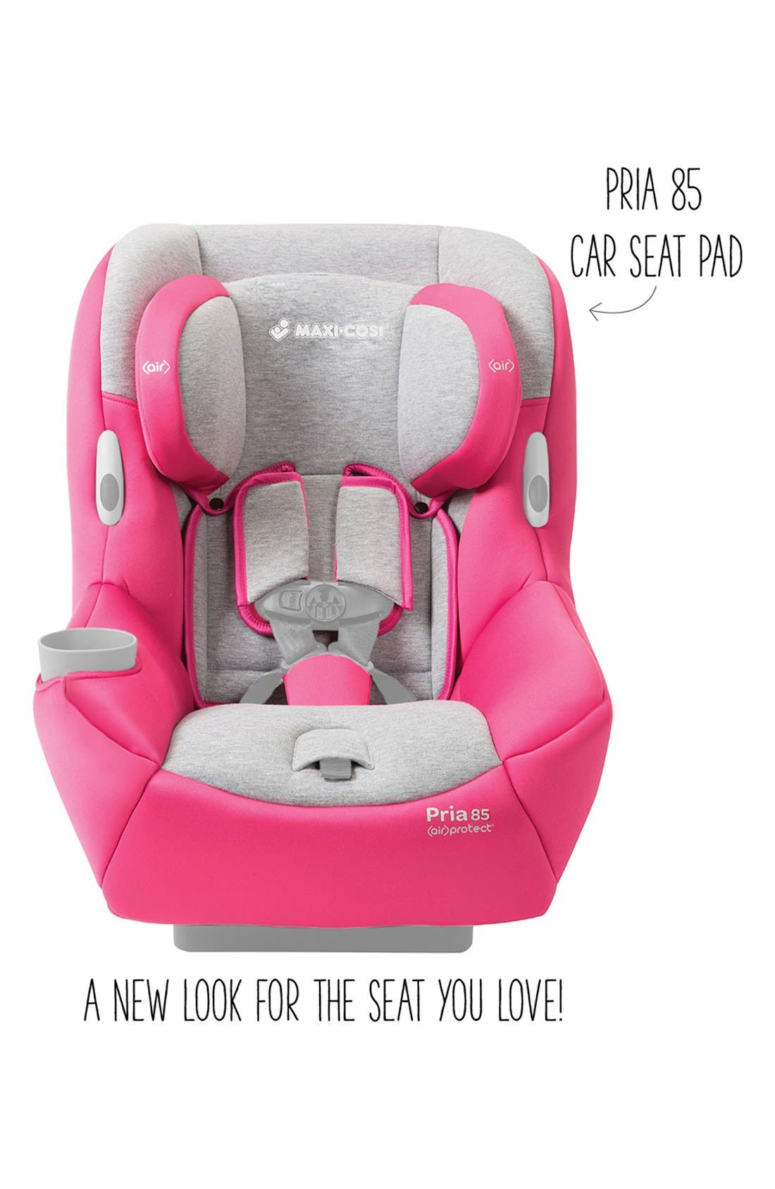 Seat Pad Fashion Kit for Pria<sup>™</sup> 85 Car Seat,                             Alternate thumbnail 2, color,                             Passionate Pink