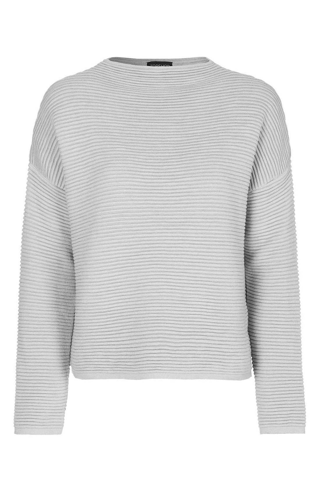 Alternate Image 3  - Topshop Ribbed Pullover Sweater