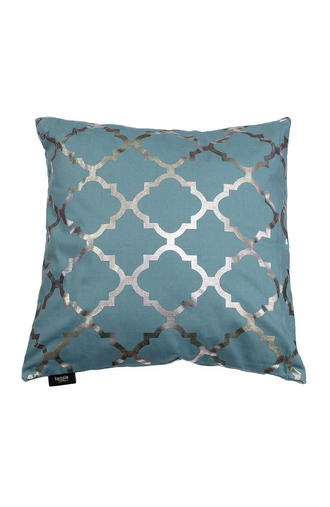 kensie 'Holly' Metallic Lattice Print Pillow