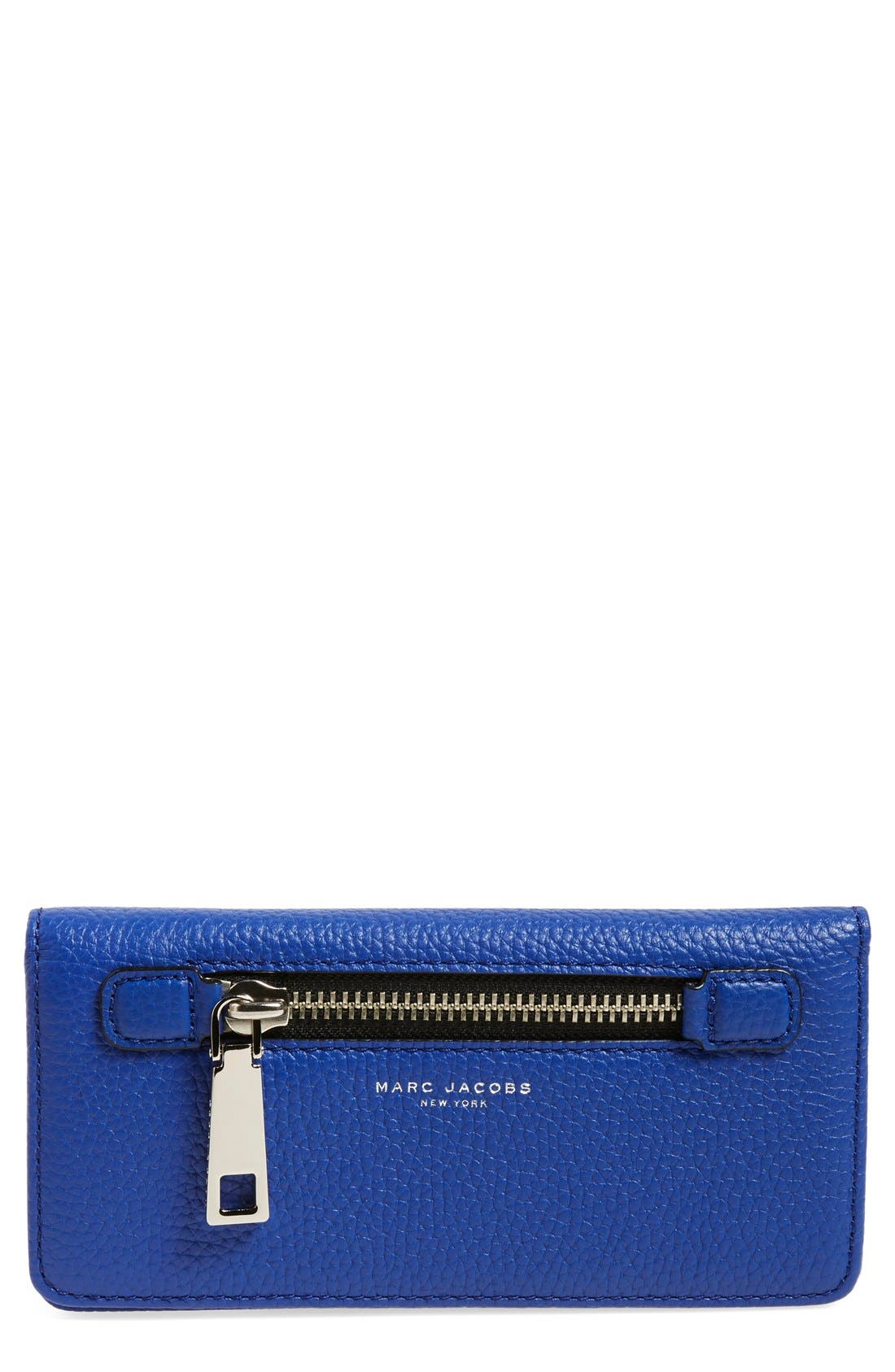 'Gotham' Leather Wallet,                         Main,                         color, Cobalt Blue