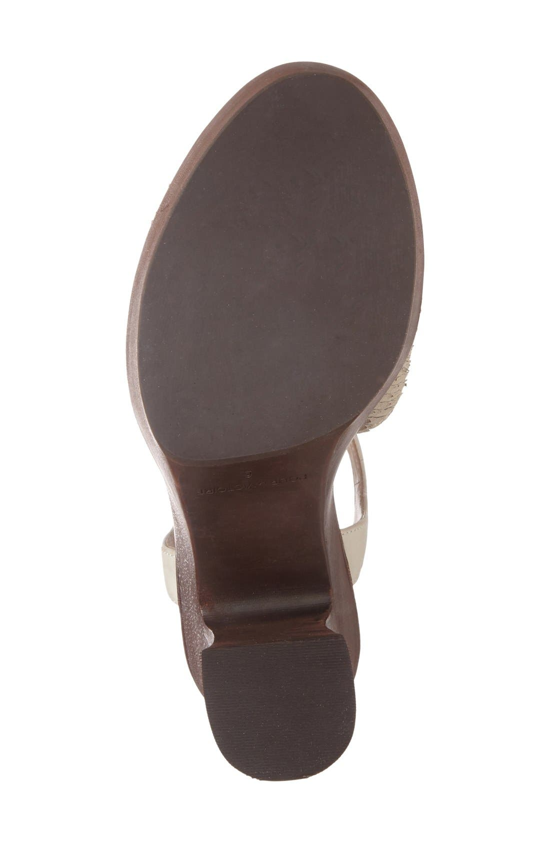 'Dakota' Platform Sandal,                             Alternate thumbnail 4, color,                             Bone Leather
