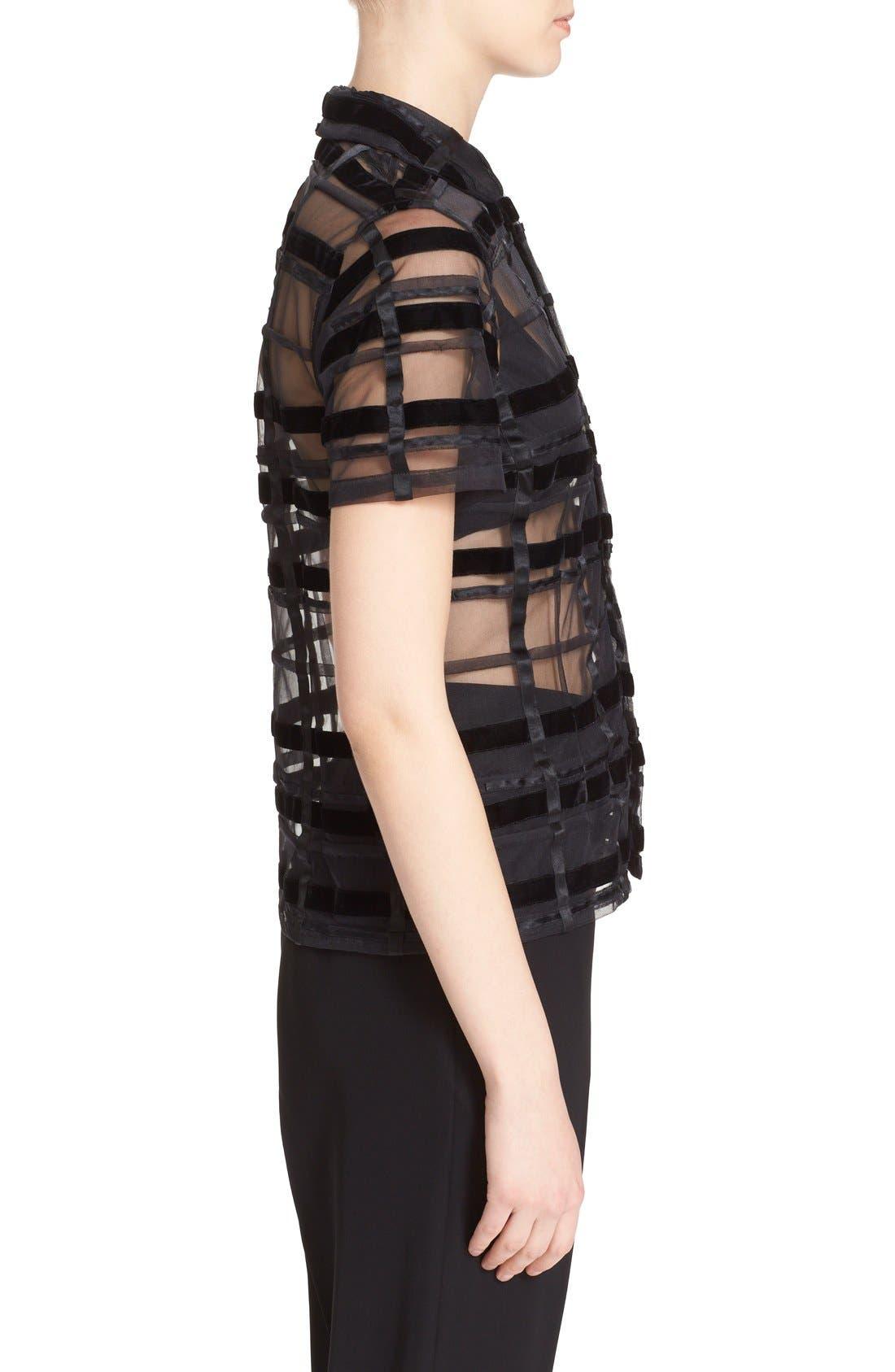 Alternate Image 4  - Comme des Garçons Sheer Button Front Blouse