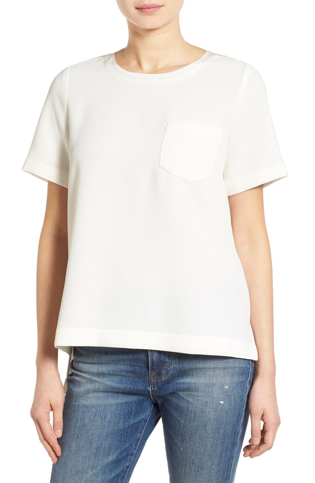 Alternate Image 1 Selected - Madewell Short Sleeve Button Back Top