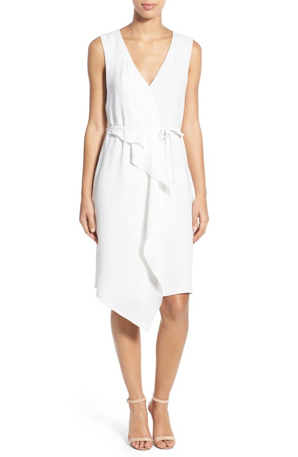 Adrianna Papell Drape Front Faux Wrap Dress | Nordstrom