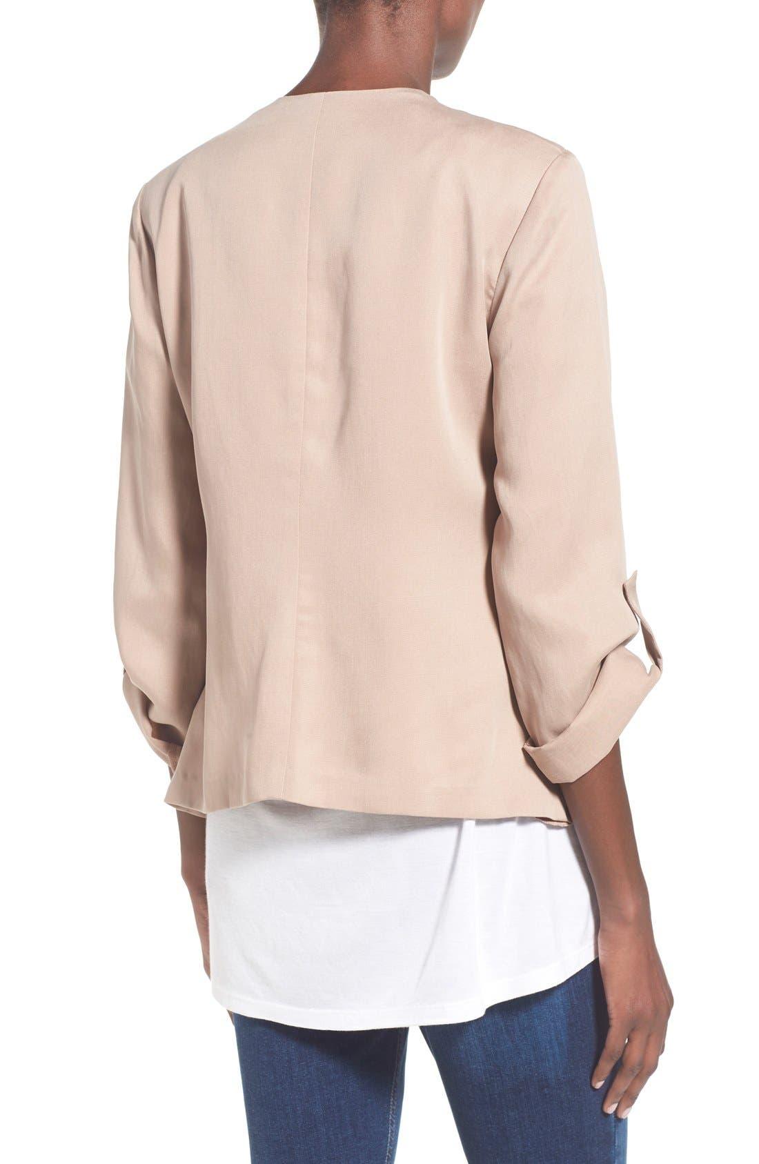 Alternate Image 3  - ASTR Drape Front Jacket